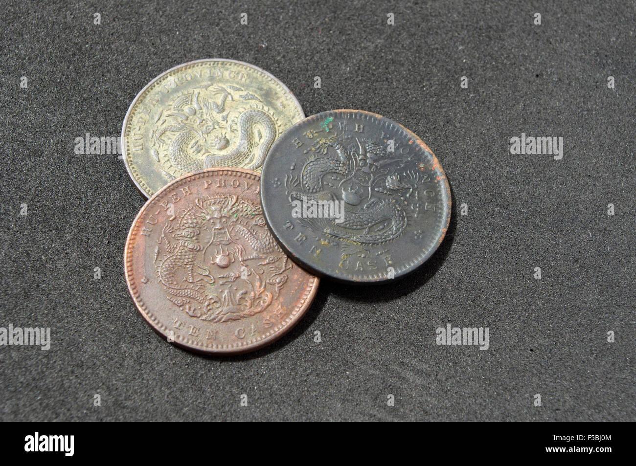 Alte Chinesische Münze Der Qing Dynastie Stockfoto Bild 89380724