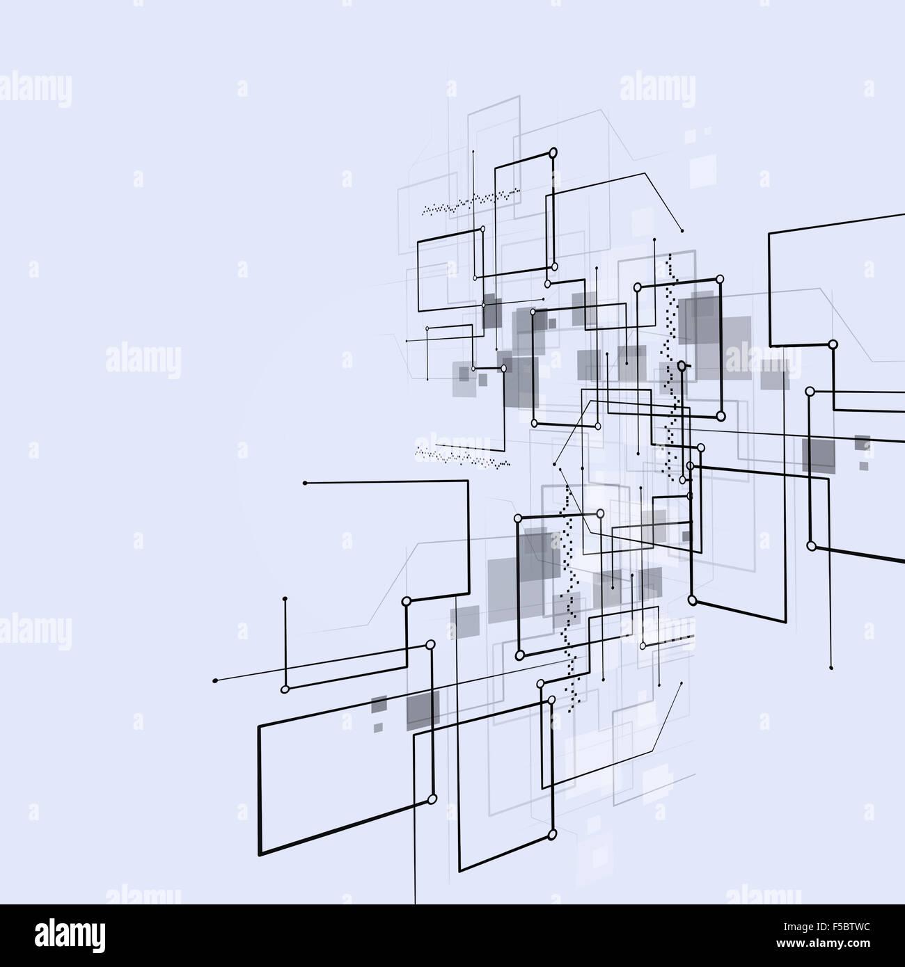 abstrakte Verbindung Technologien helle betriebswirtschaftlicher Hintergrund Stockbild