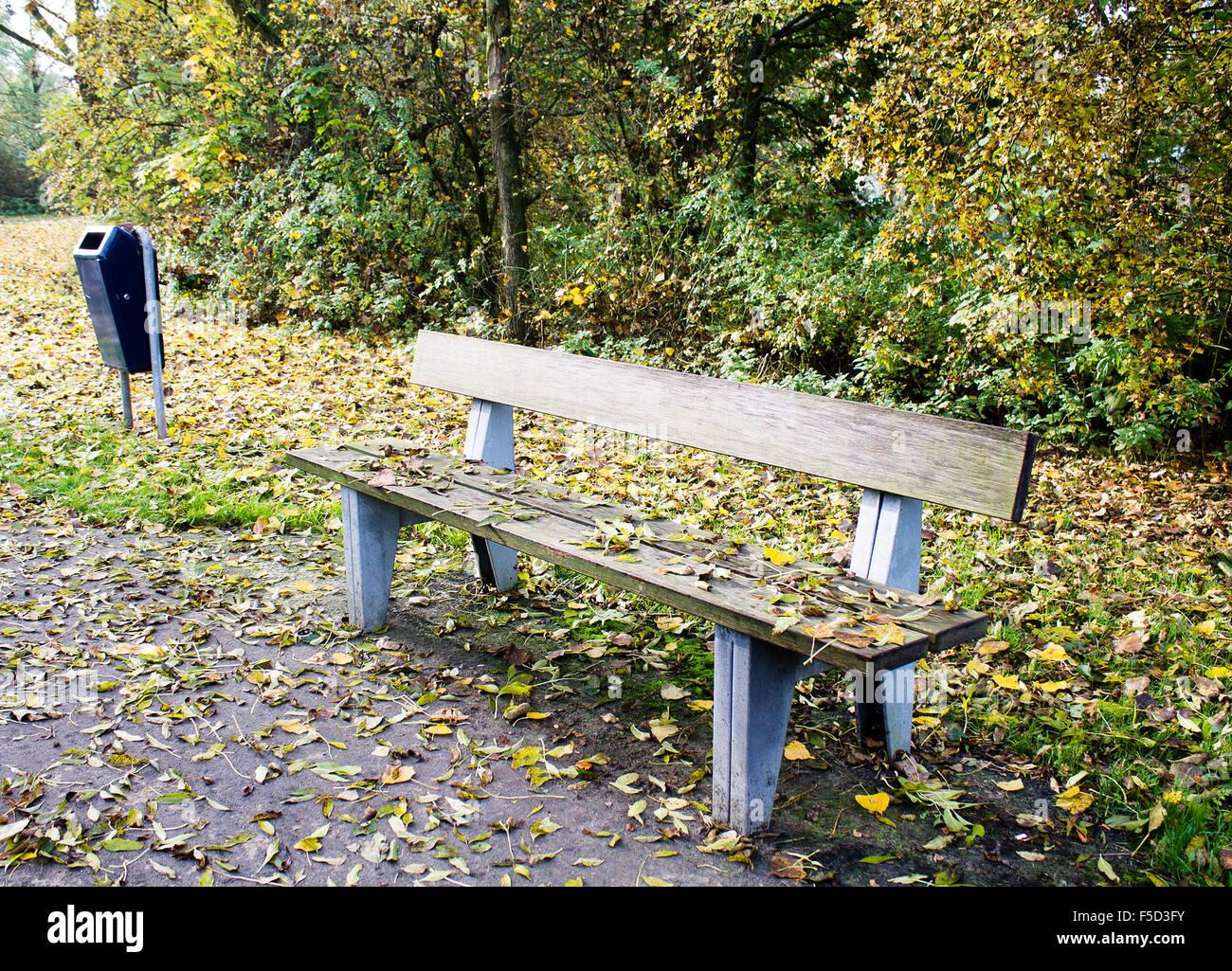 Herbstsaison in Amersfoort park Stockbild