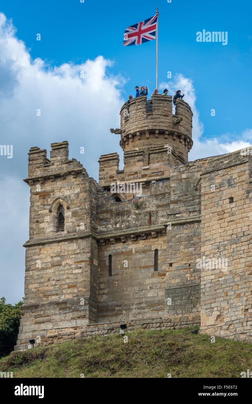 Lincoln Castle Stockbild