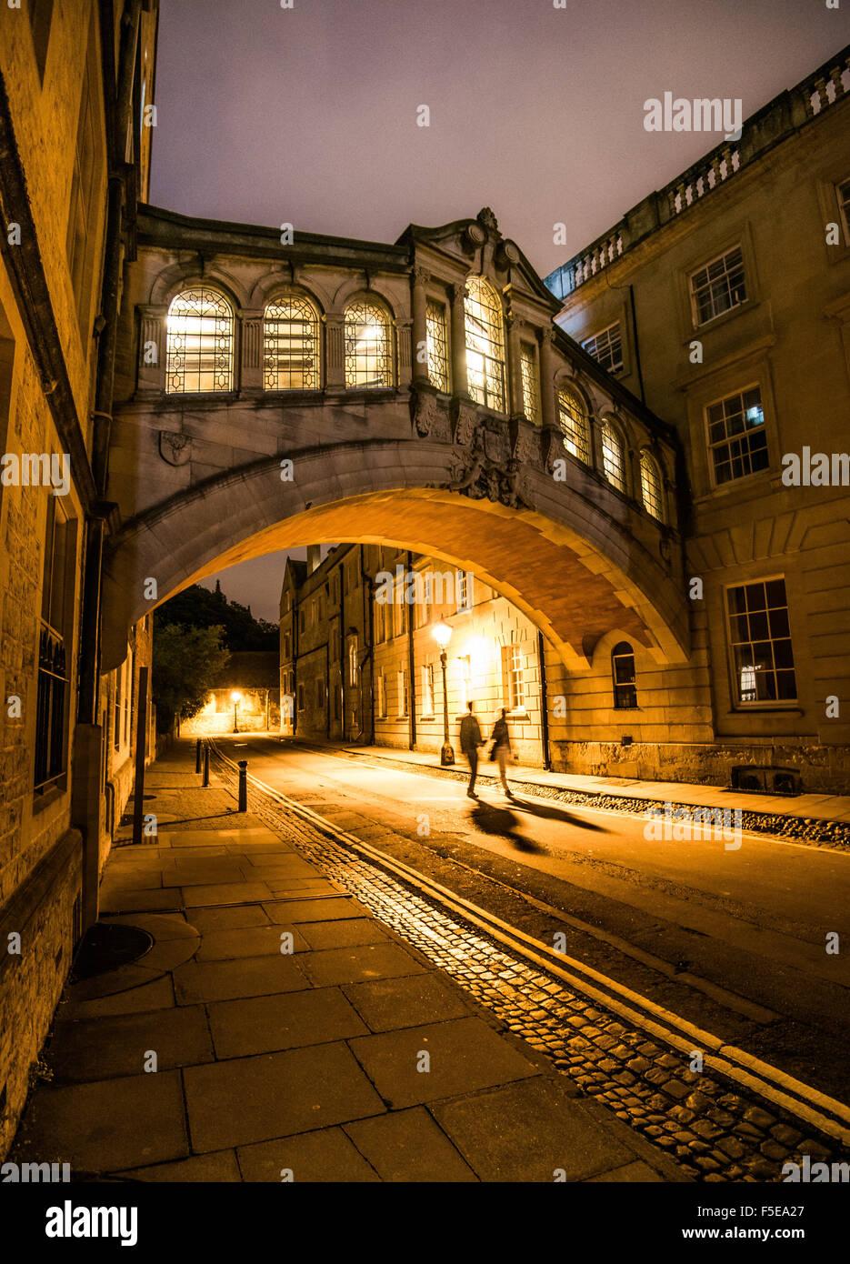 Seufzerbrücke, Oxford, Oxfordshire, England, Vereinigtes Königreich, Europa Stockbild