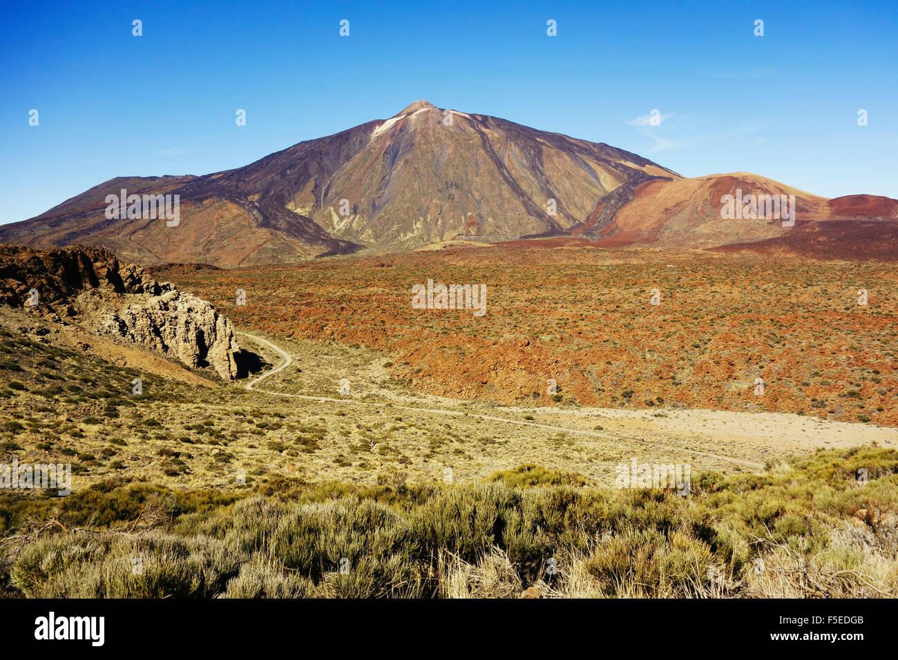 Pico del Teide, Parque Nacional del Teide, UNESCO-Weltkulturerbe, Teneriffa, Kanarische Inseln, Spanien, Europa Stockfoto