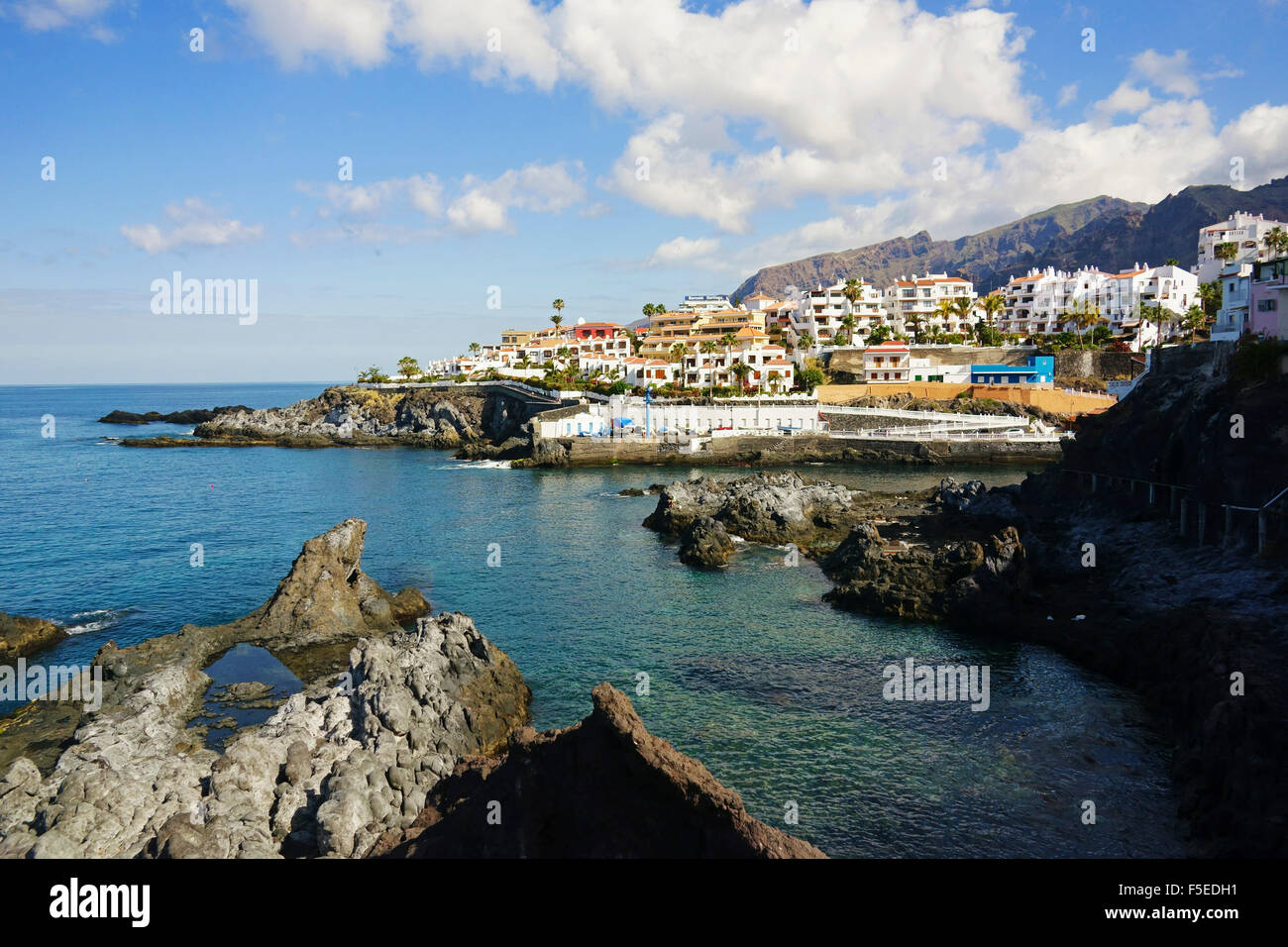 Puerto de Santiago, Teneriffa, Kanarische Inseln, Spanien, Atlantik, Europa Stockfoto