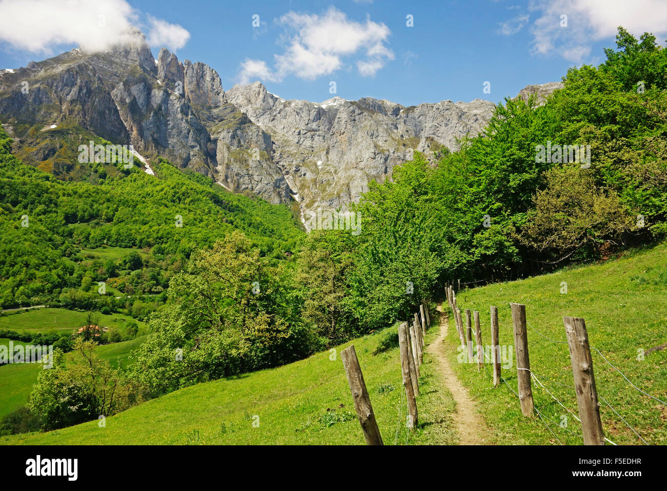 Fuente De, Picos de Europa, Parque Nacional de Los Picos de Europa, Asturien, Kantabrien, Spanien, Europa Stockbild