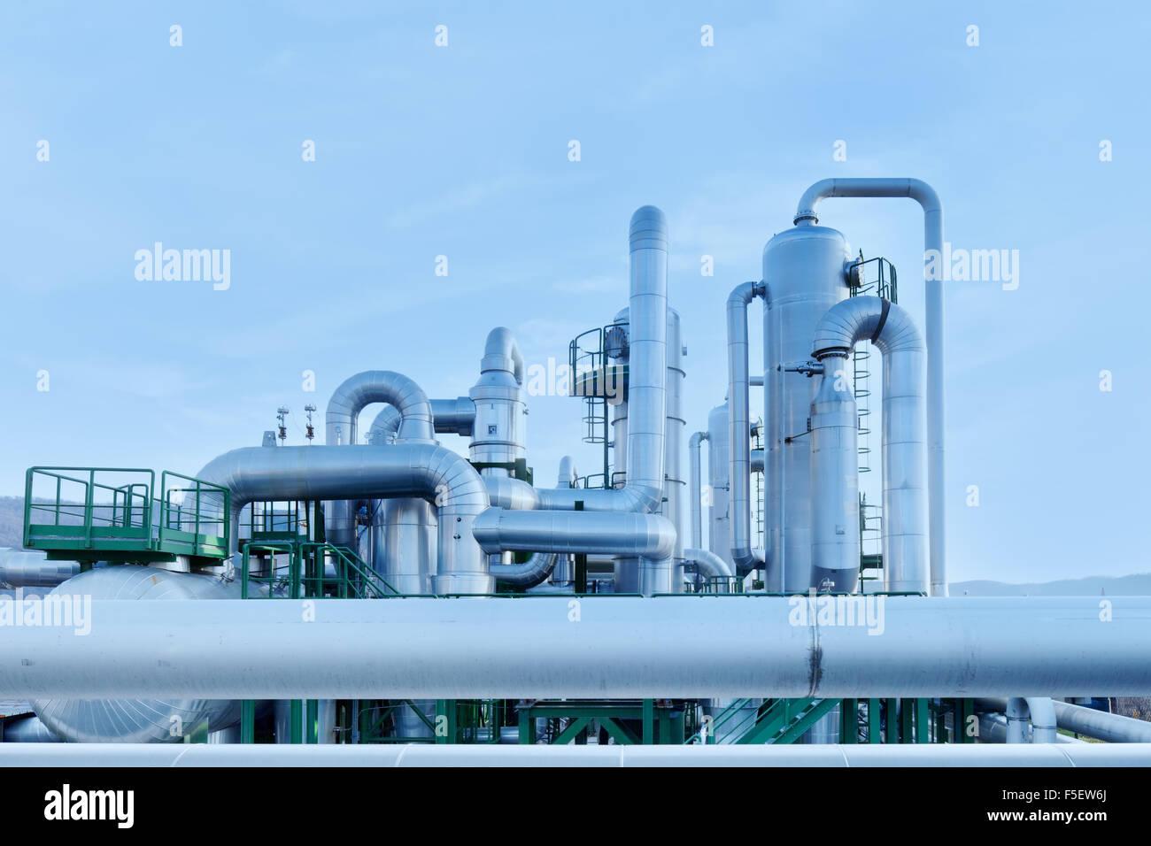 Geothermischer Energie ist eine Form der Alternativen und nachhaltigen Energiegewinnung im Vergleich zu denen, die Stockbild