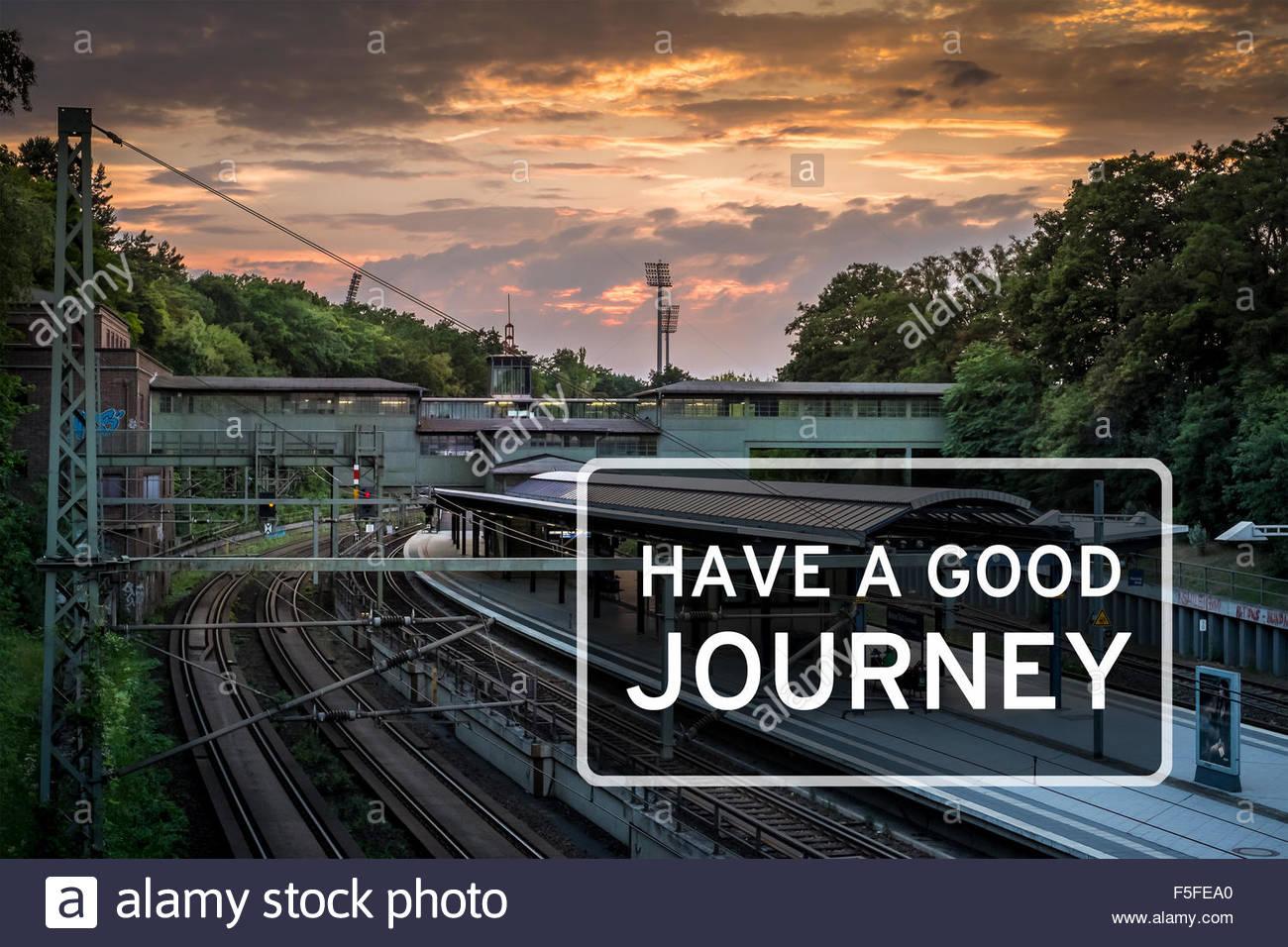Gute Reise Stockbild