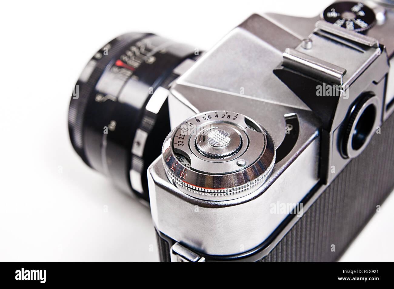 Entfernungsmesser kamera mit objektiv ansicht teil der alten