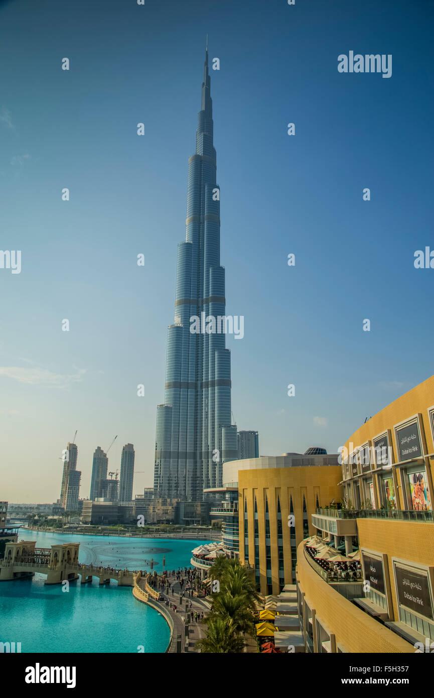 Dubai, Burj Al Khalifa Tower Stockbild