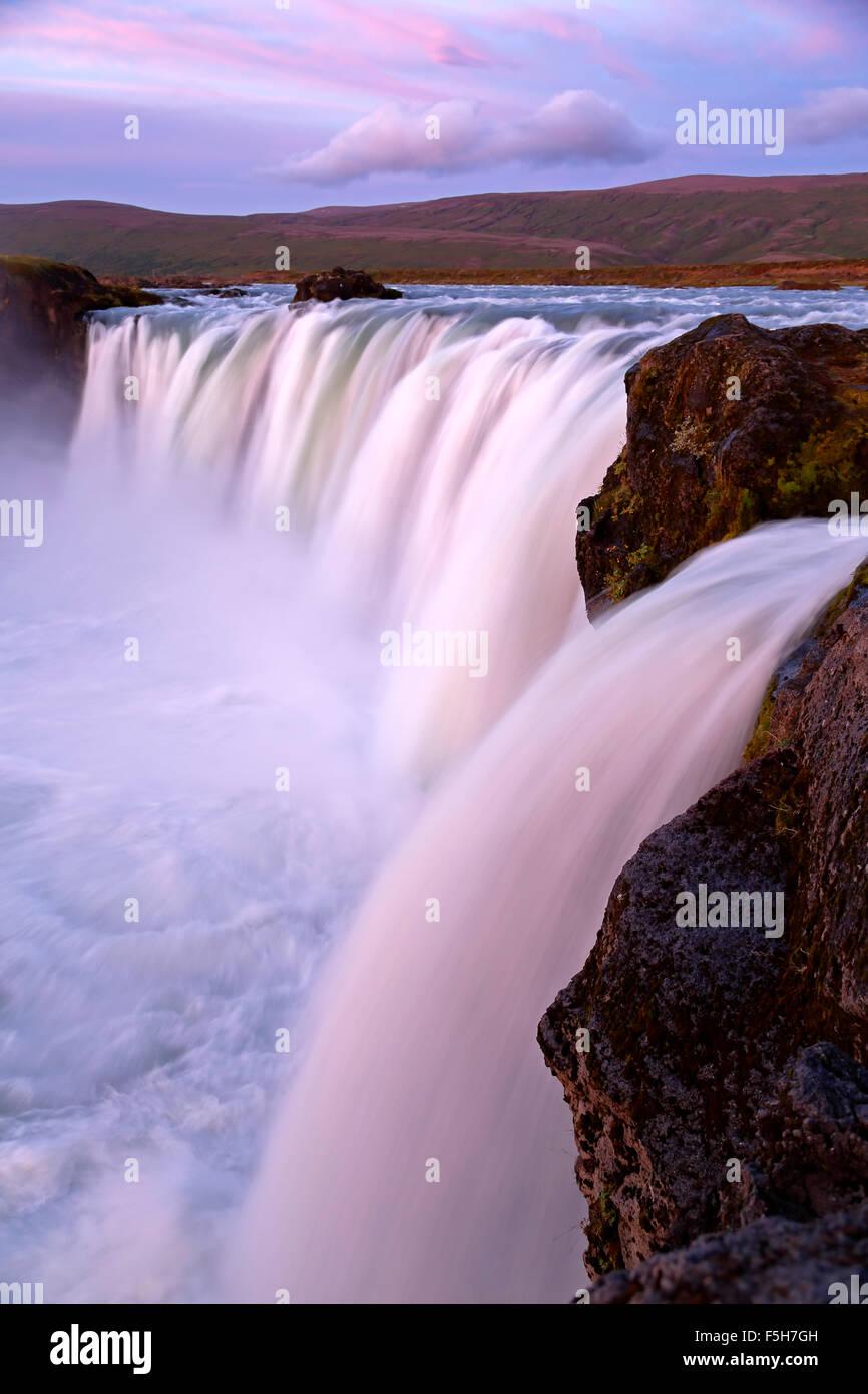 Godafoss Wasserfälle, Island Stockbild
