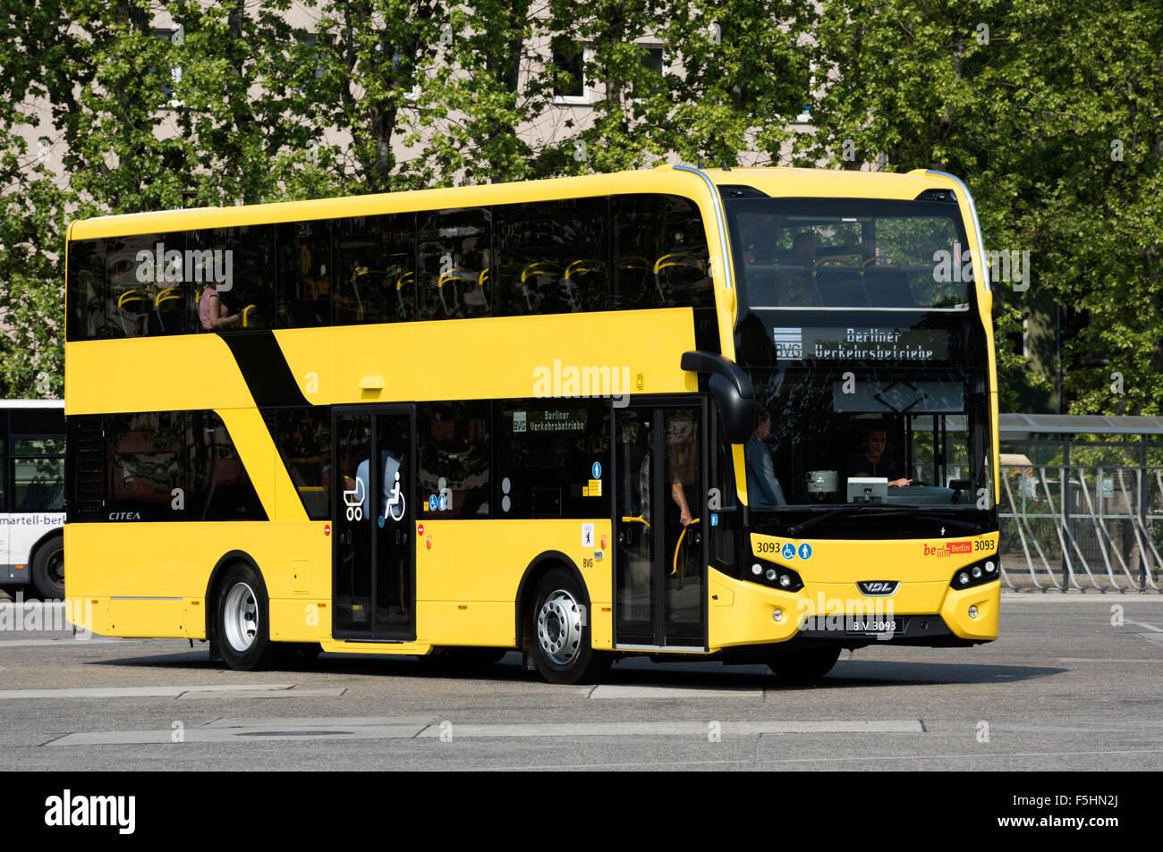 Berlin Deutschland Liniendoppelstockbus Die Bvg Auf Der Bus