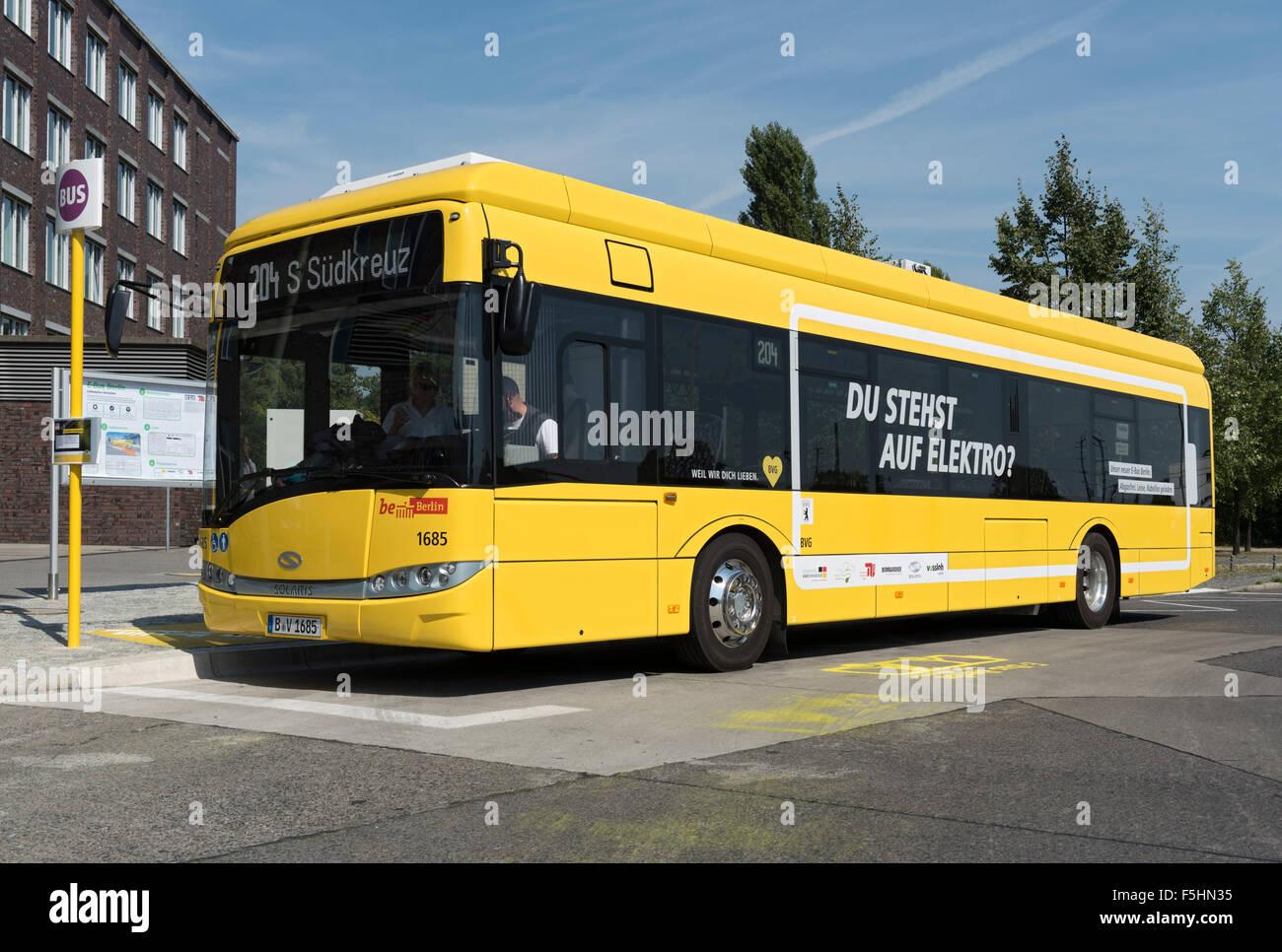 Berlin Deutschland E Bus Berlin Bvg Linie 204 Autos Im Jahr 1685