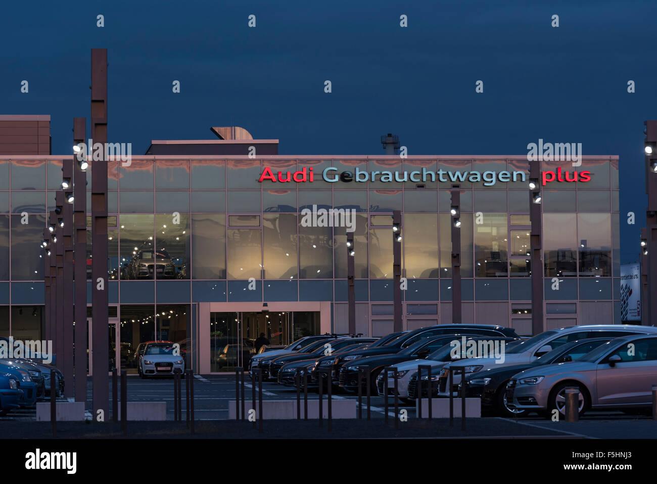 berlin, deutschland, audi zentrum adlershof stockfoto, bild