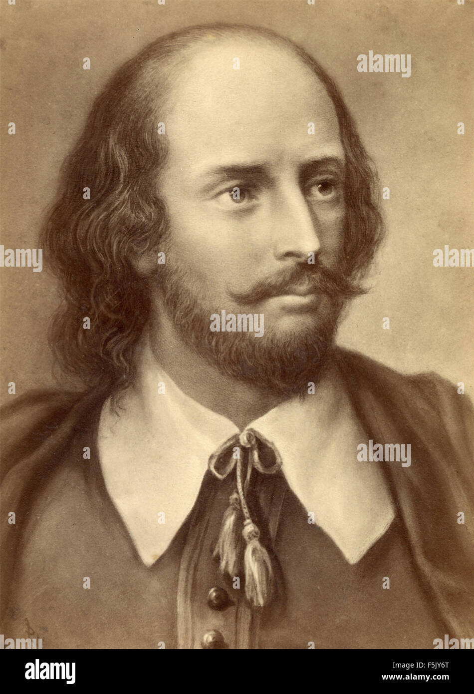 William Shakespeare Portrait Painting Stockfotos & William ...