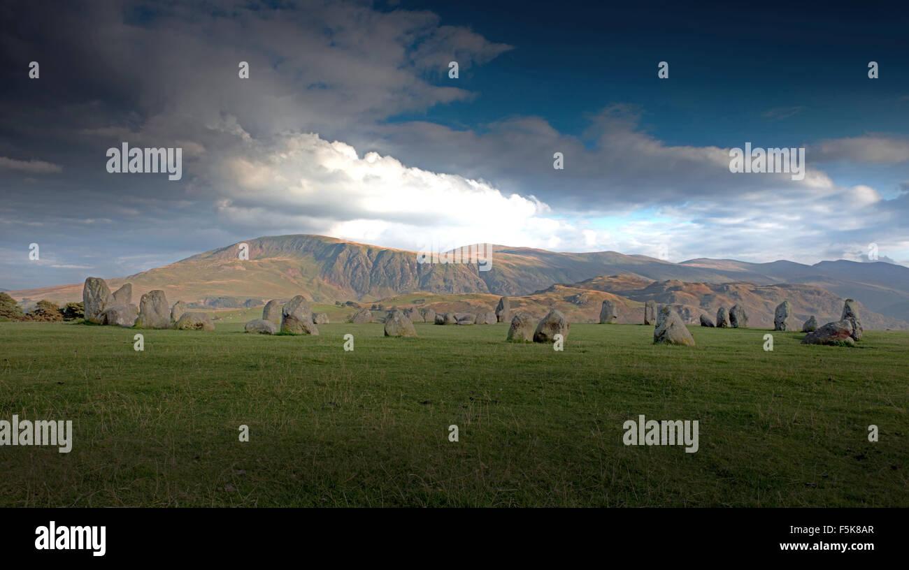 Castlerigg Steinkreis in der Nähe von Keswick, Lake District, Cumbria, England, Uk, Gb Stockbild
