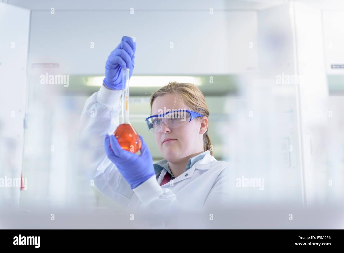 Farbige Muster im Testlabor untersuchen Wissenschaftler Stockfoto