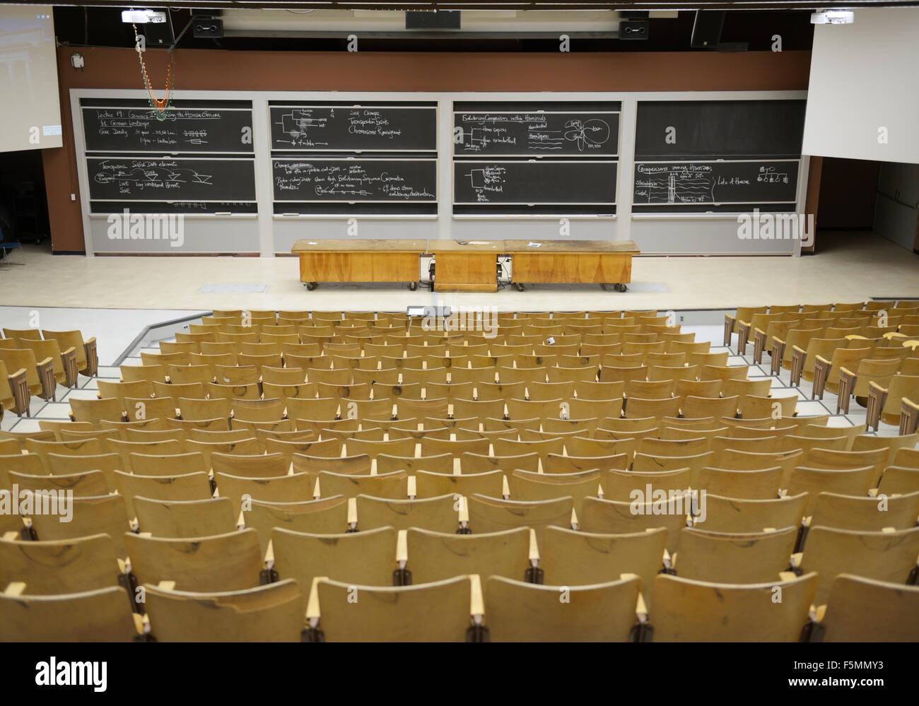Hörsaal der Universität Stockbild