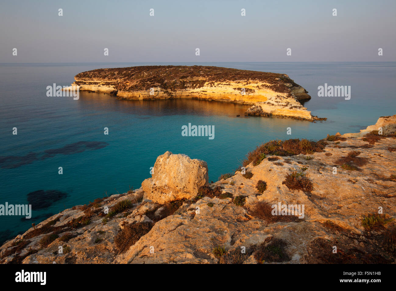 Insel der Kaninchen in Lampedusa, Sizilien, Italien Stockbild