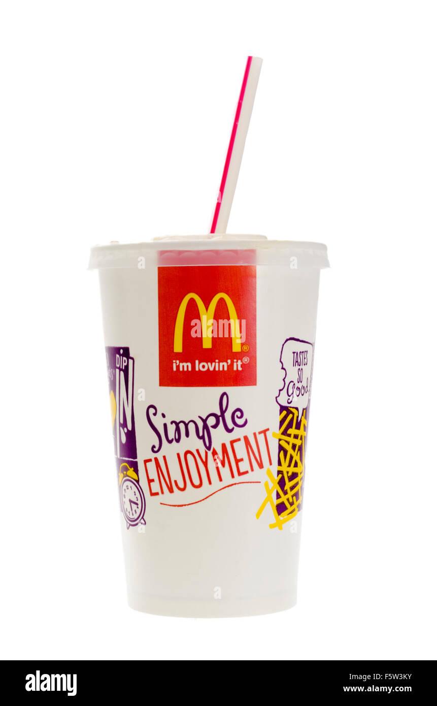 McDonald\'s-Cola-Getränk Stockfoto, Bild: 89676831 - Alamy