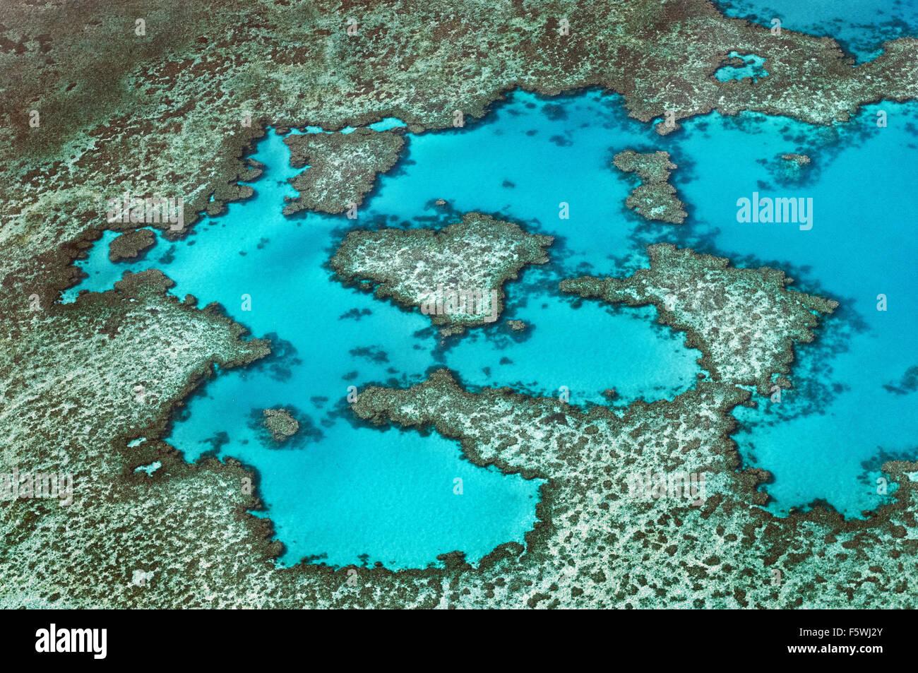 Lagune im Great Barrier Reef. Stockbild