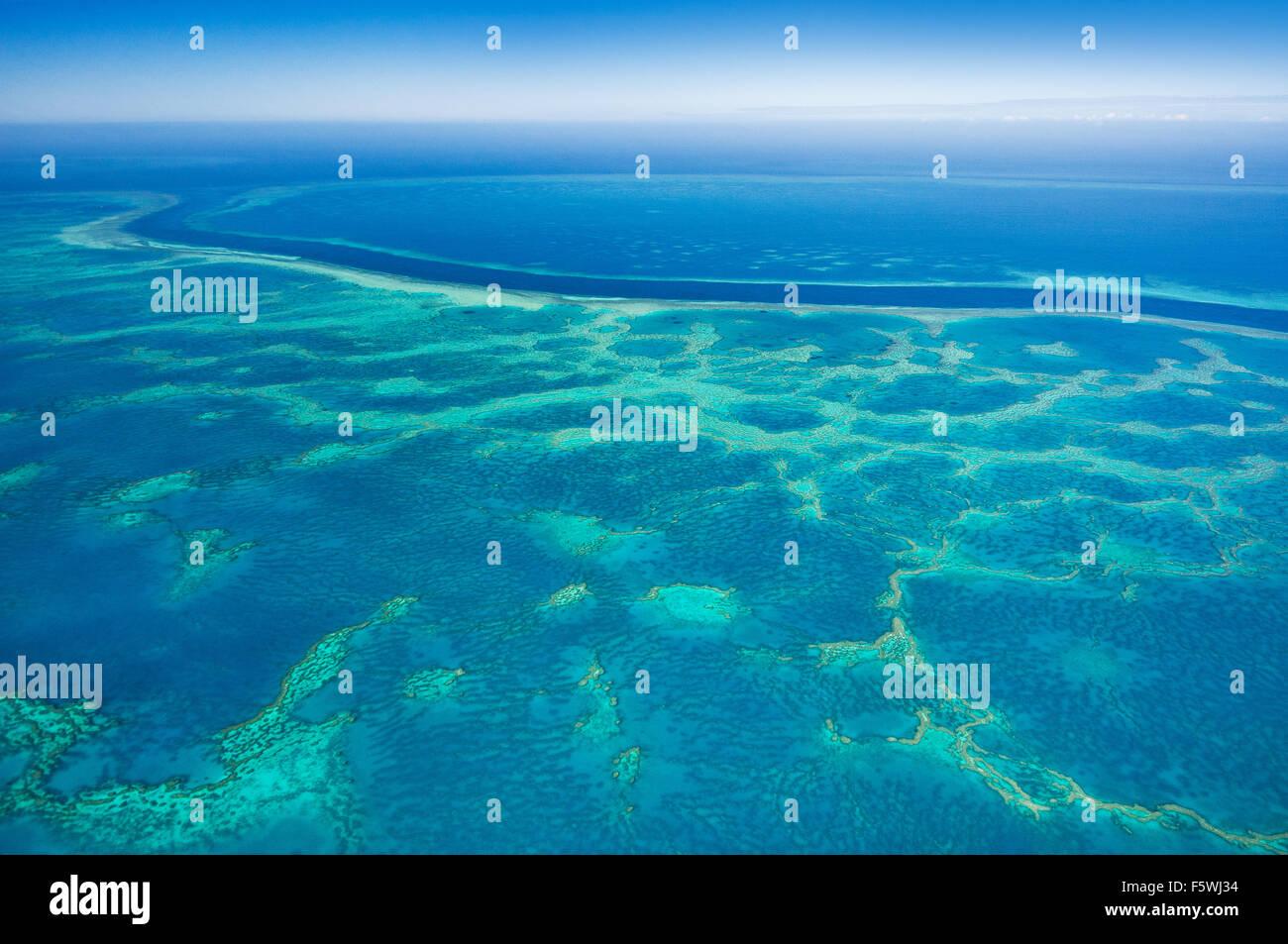 Haken und Hardy Reef Teil des Great Barrier Reef. Stockbild