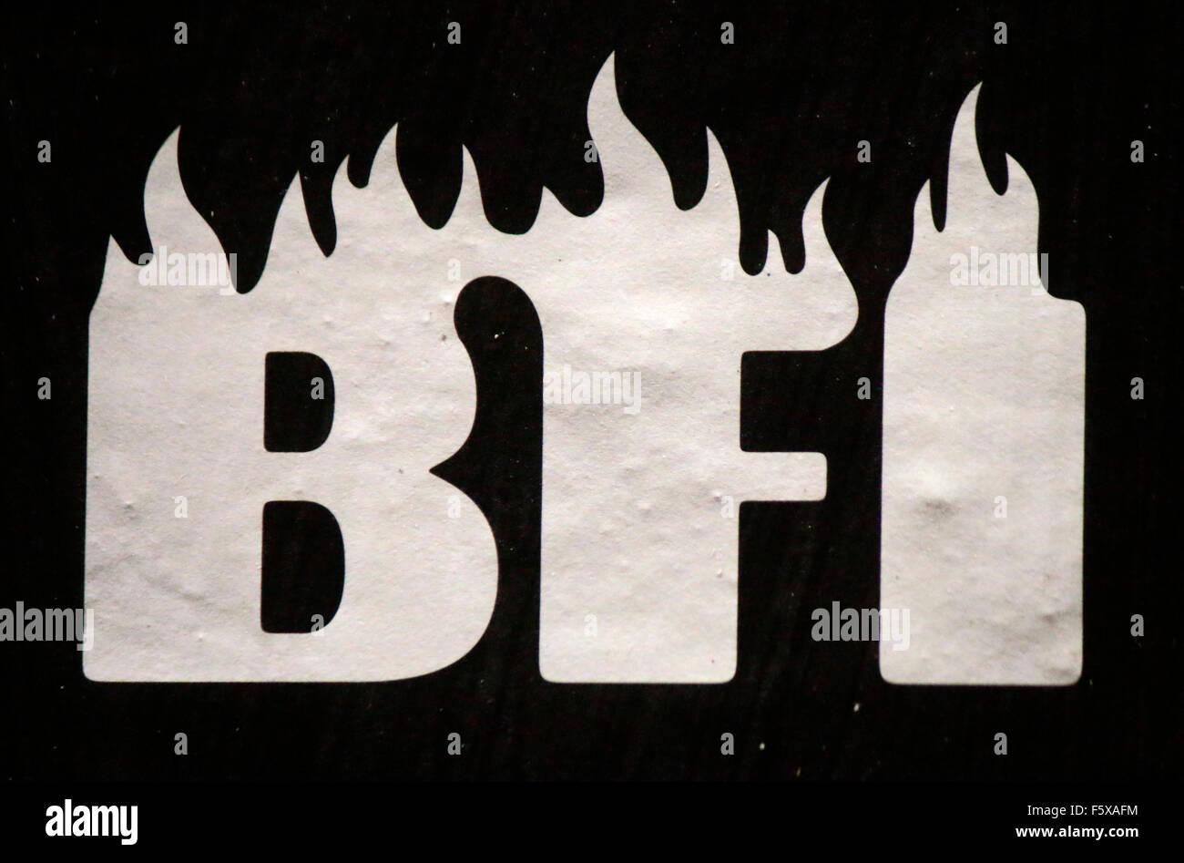 """Markennamen: """"BFI"""", Berlin. Stockbild"""