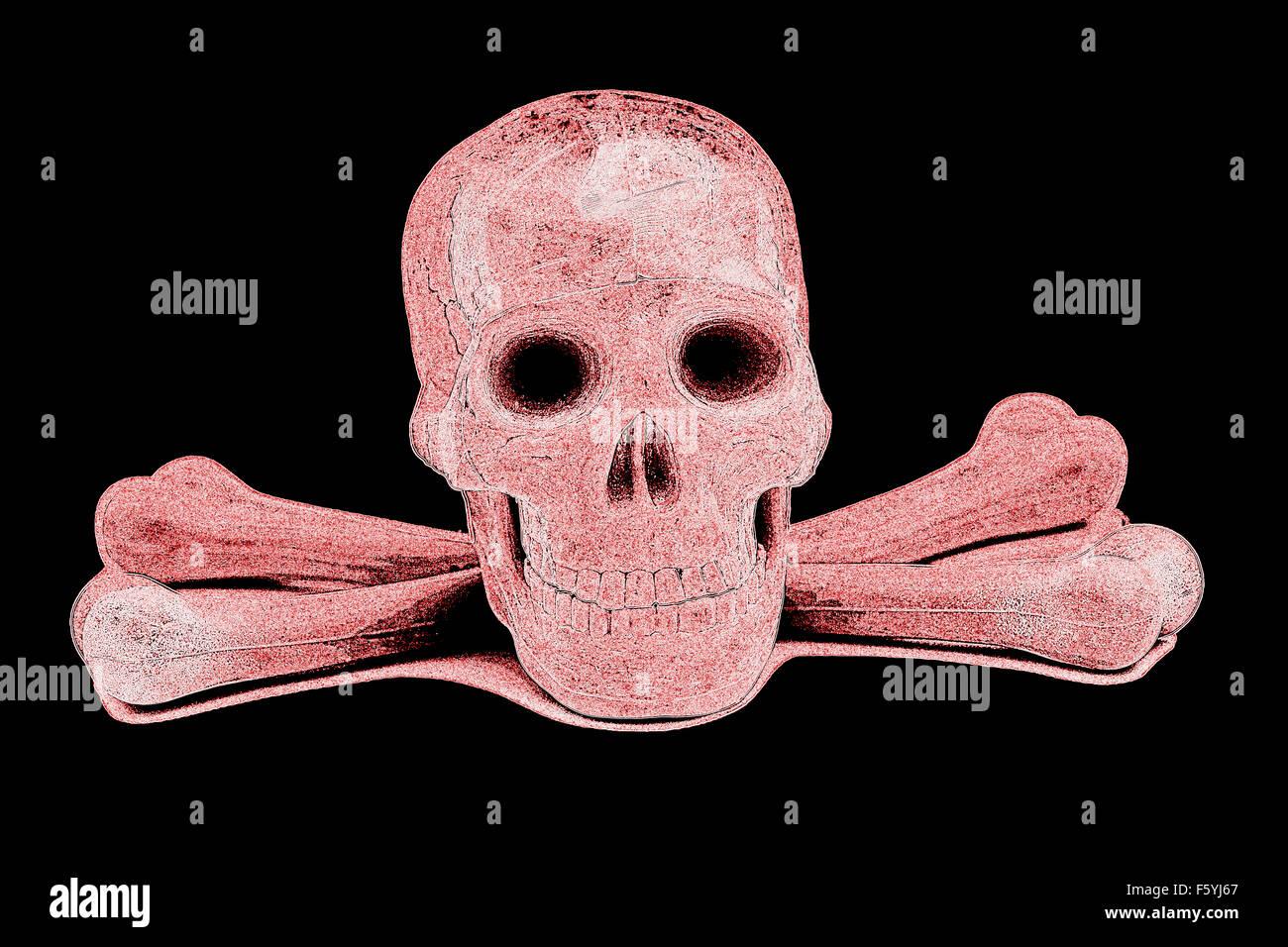 Fantastisch Menschlicher Schädel Markiert Zeitgenössisch ...