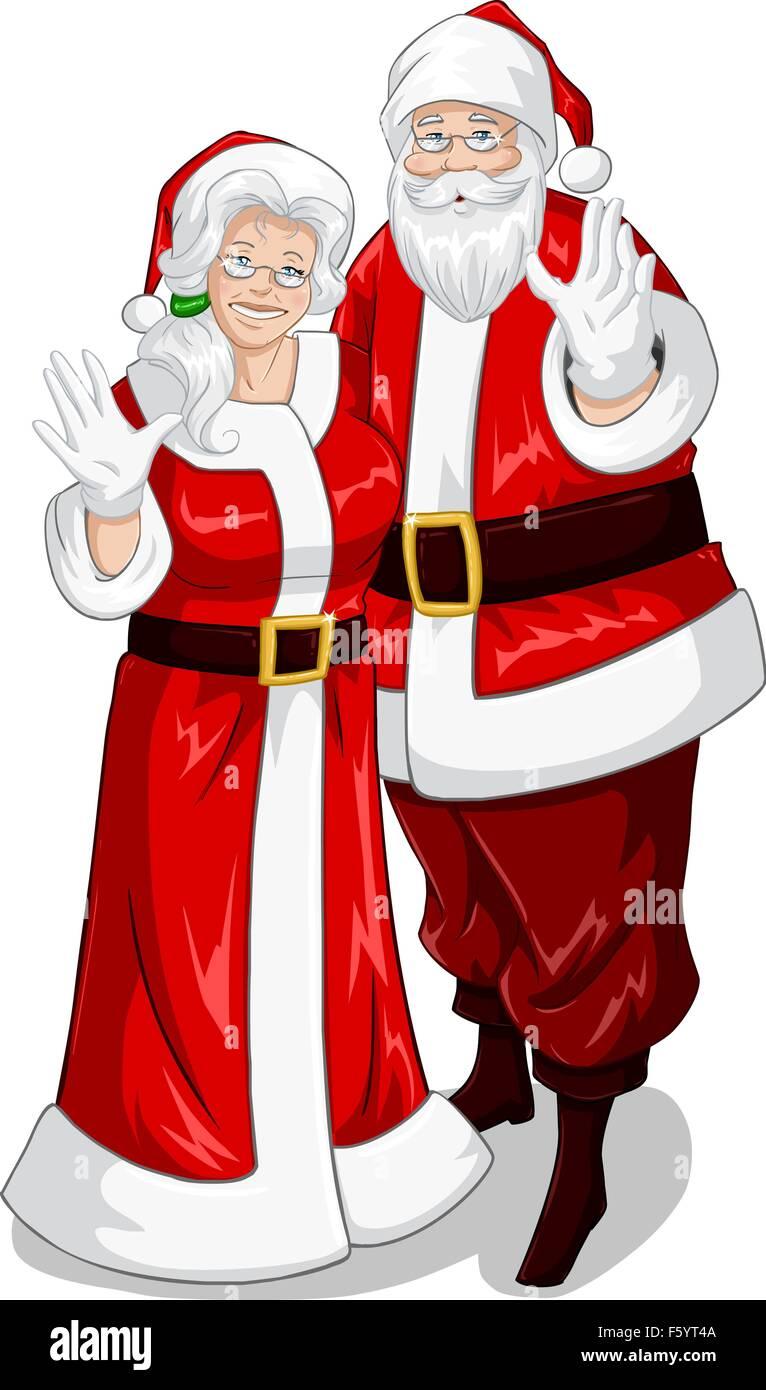 Großzügig Ausmalbilder Santa Und Mrs Claus Fotos - Malvorlagen Von ...