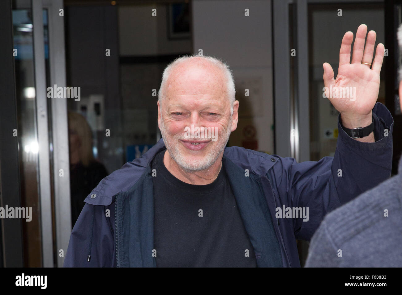 Promis bei BBC Radio 2 mit: David Gilmour Where: London, Vereinigtes Königreich bei: 24 Sep 2015 Stockbild