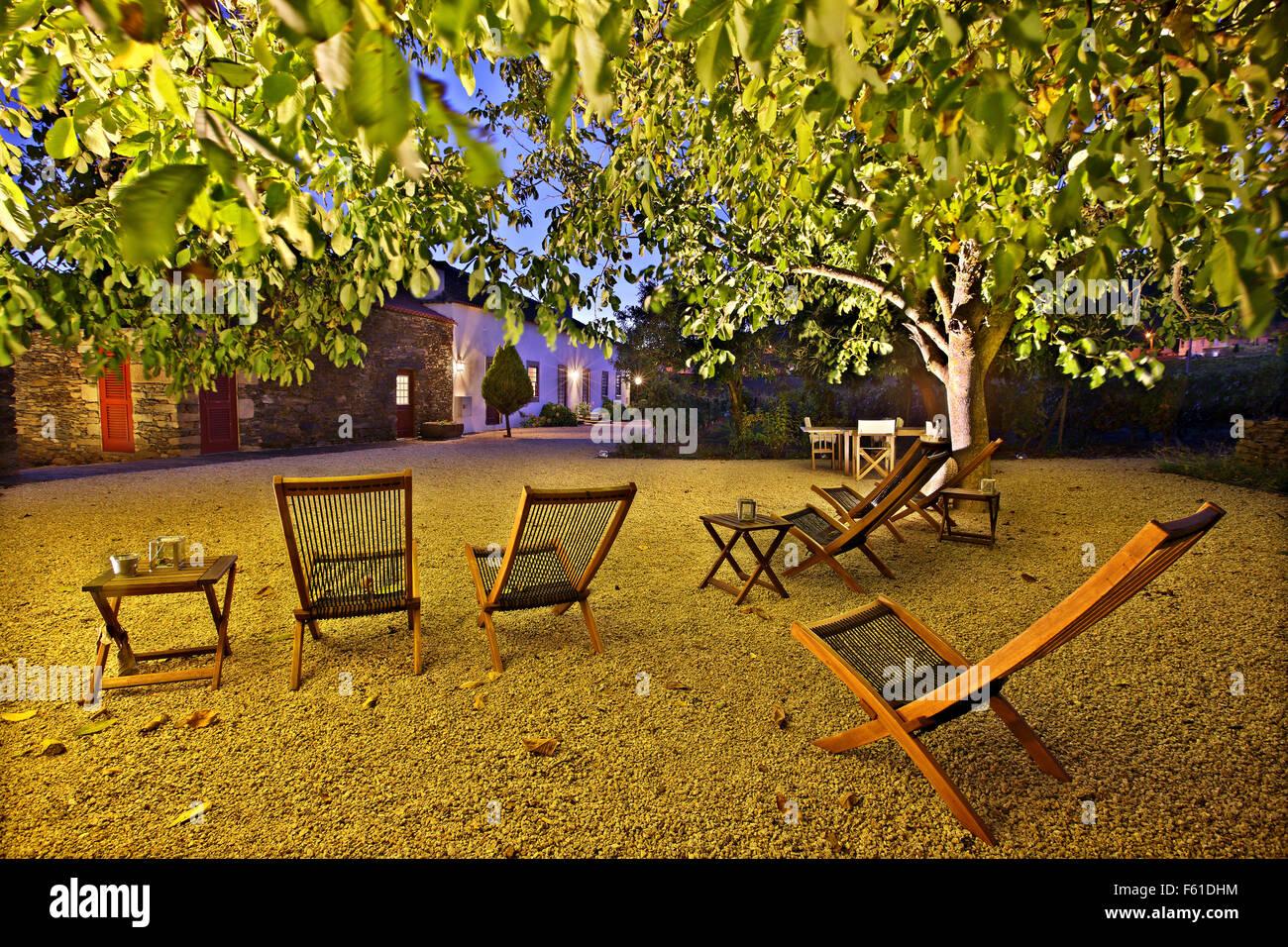 In 'Morgadia Da Calcada', eine schöne Pension, umgeben von Weinbergen, in Sélestat Dorf, Weinregion Stockbild