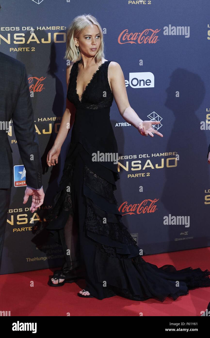 Madrid Spanien 10 November 2015 Jennifer Lawrence Besuchte Die