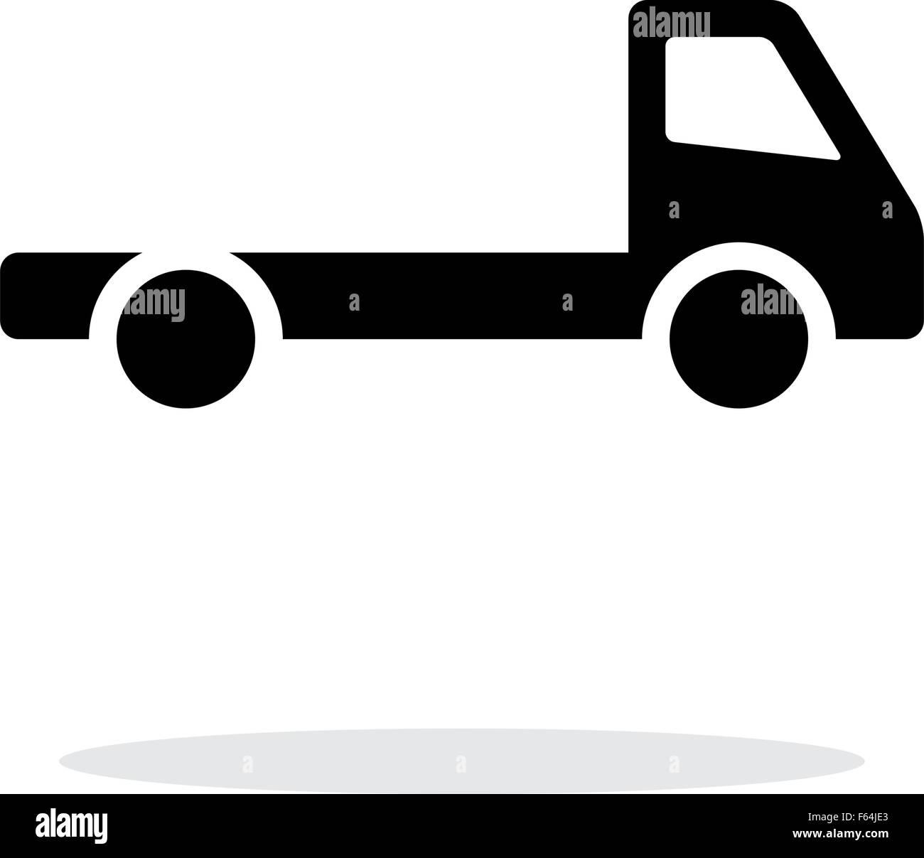 Leere LKW einfaches Symbol auf weißem Hintergrund Vektor Abbildung ...