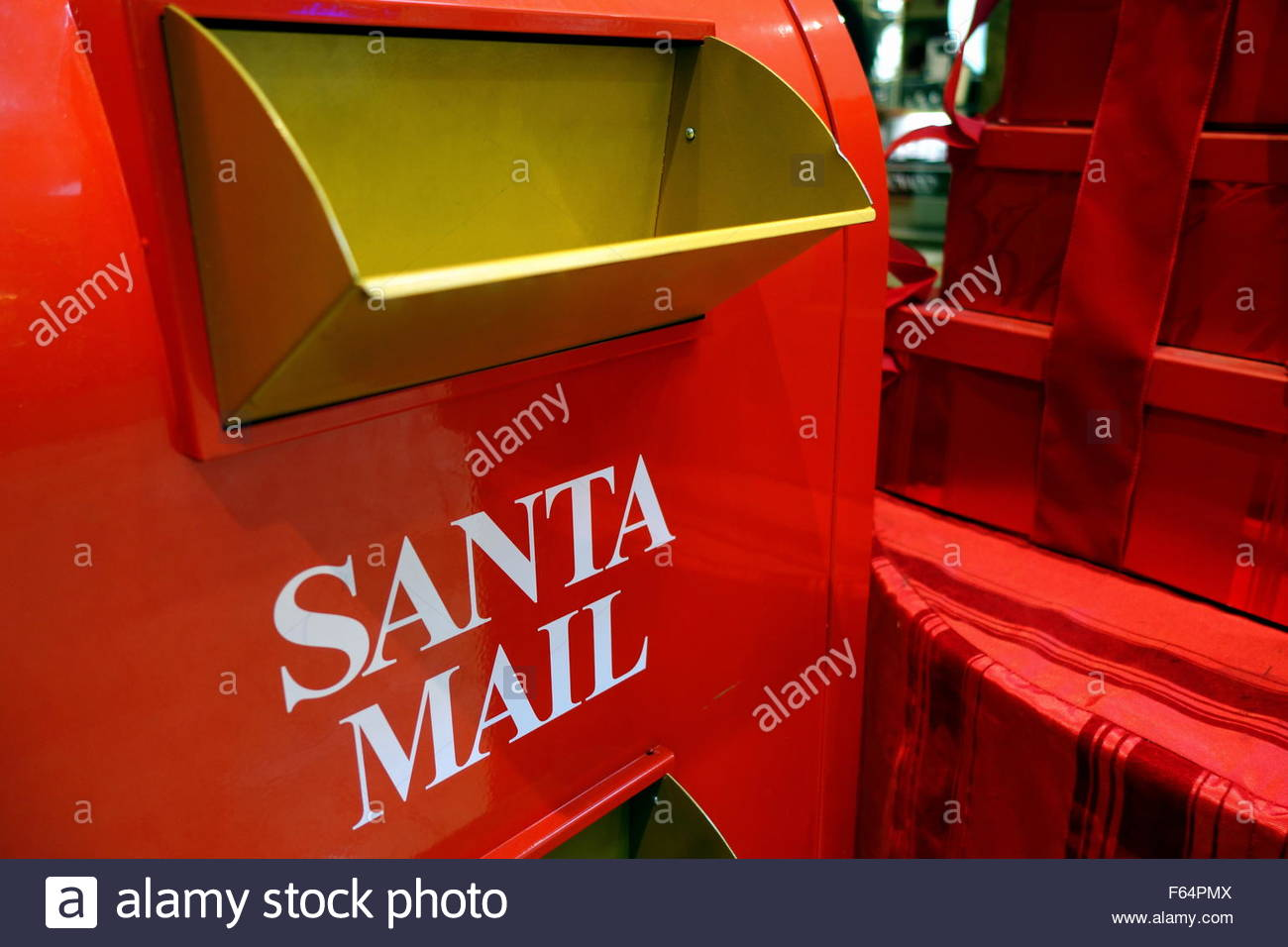 Santa-mail Stockbild