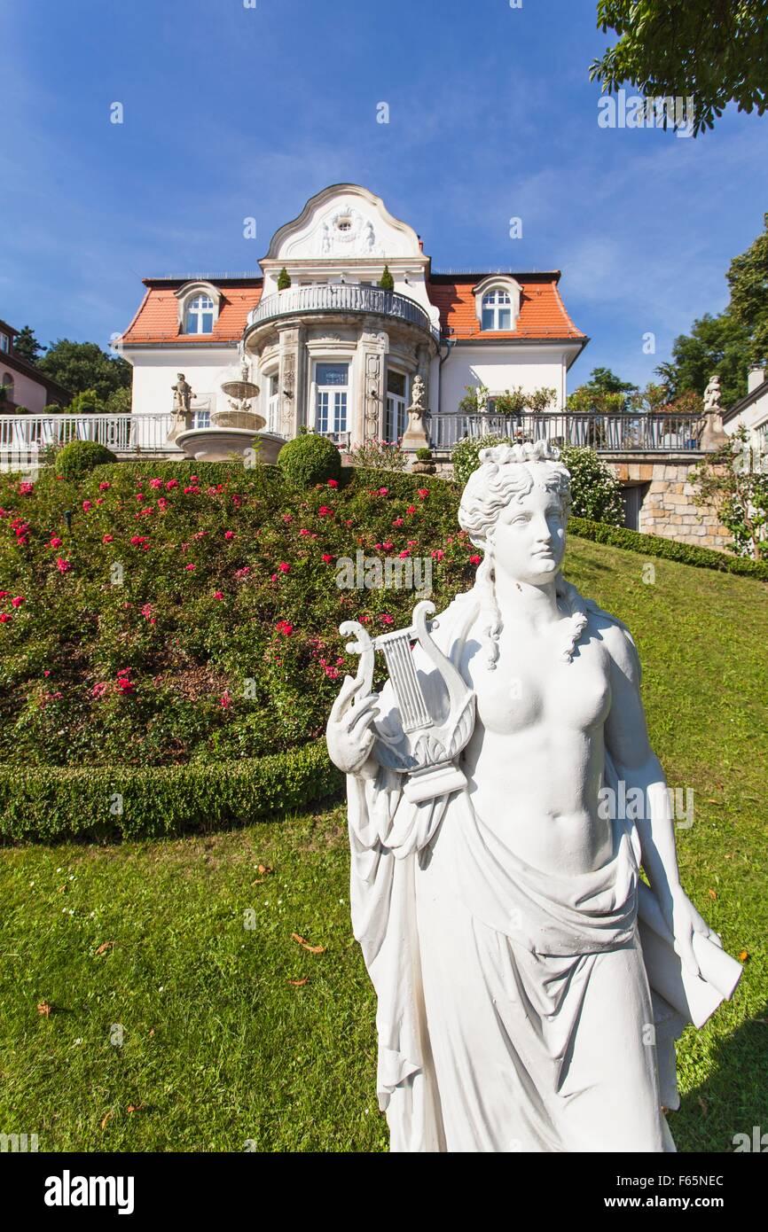 Ein Gründerzeit-Villa auf der Plattleite, die Verbindung zwischen Loschwitz und Weissen Hirsch, Dresden Stockbild