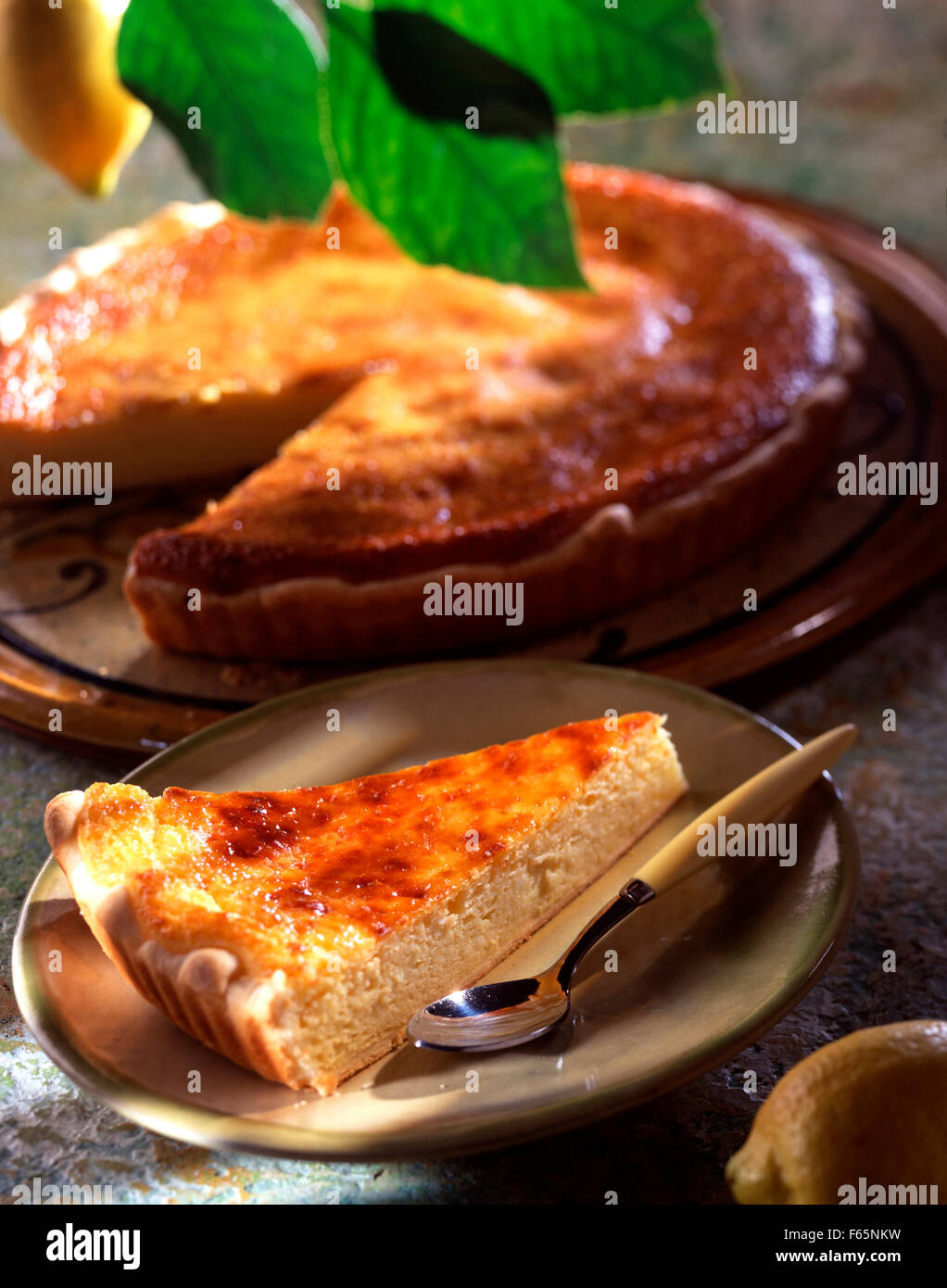 Fiadone korsischer Torte Stockfoto