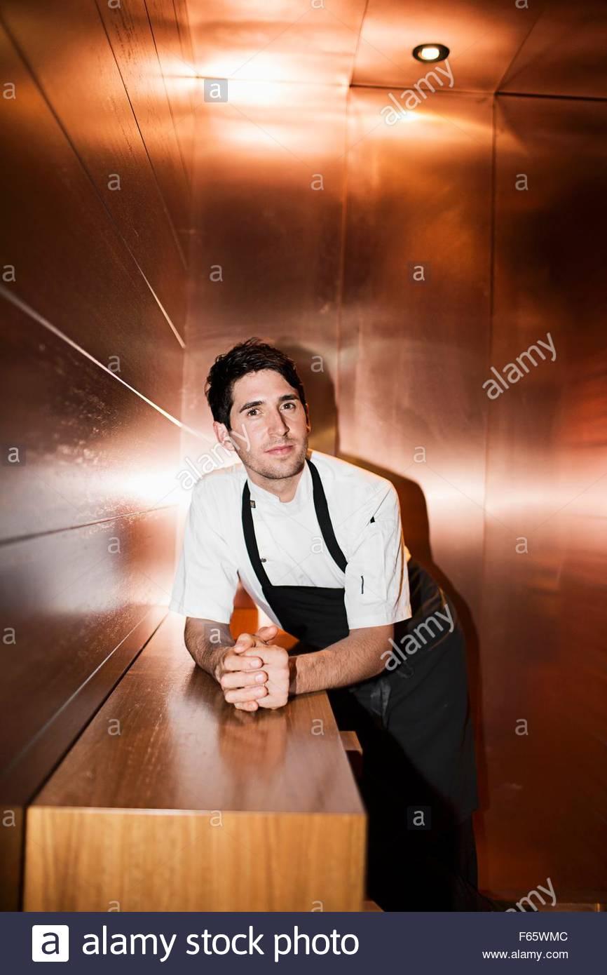 """Alejandro Cancino, Chefkoch des """"Urbane"""" im Kupfer Zimmer, Brisbane Stockbild"""
