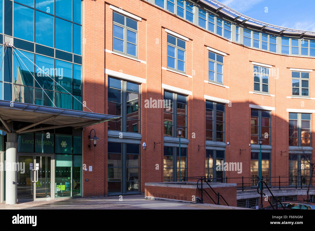 Das Grundbuchamt Büros, Nottingham, England, UK Stockfoto
