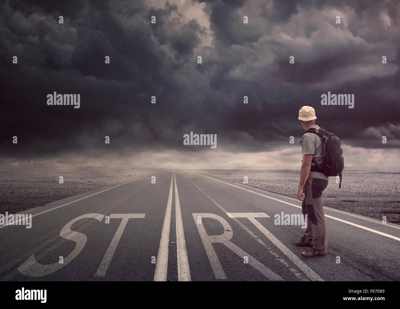 Starten Sie Ihr Leben Stockbild