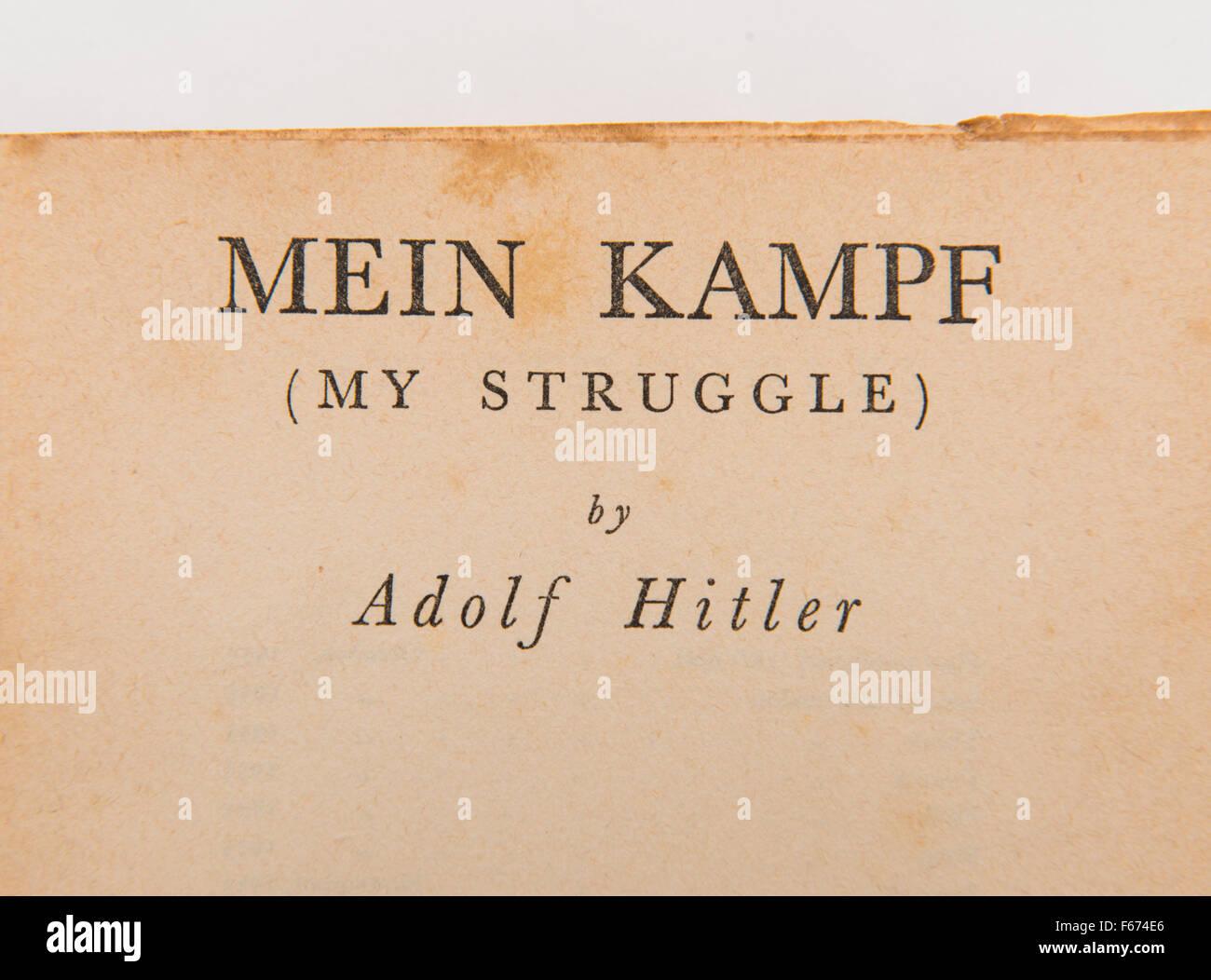 """""""Mein Kampf"""" (Mein Kampf) von Adolf Hitler. Stockbild"""