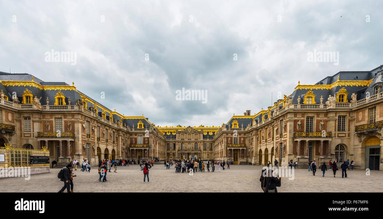 Schloss von Versailles, UNESCO-Weltkulturerbe, Yvelines, Region Ile de France, Frankreich Stockbild