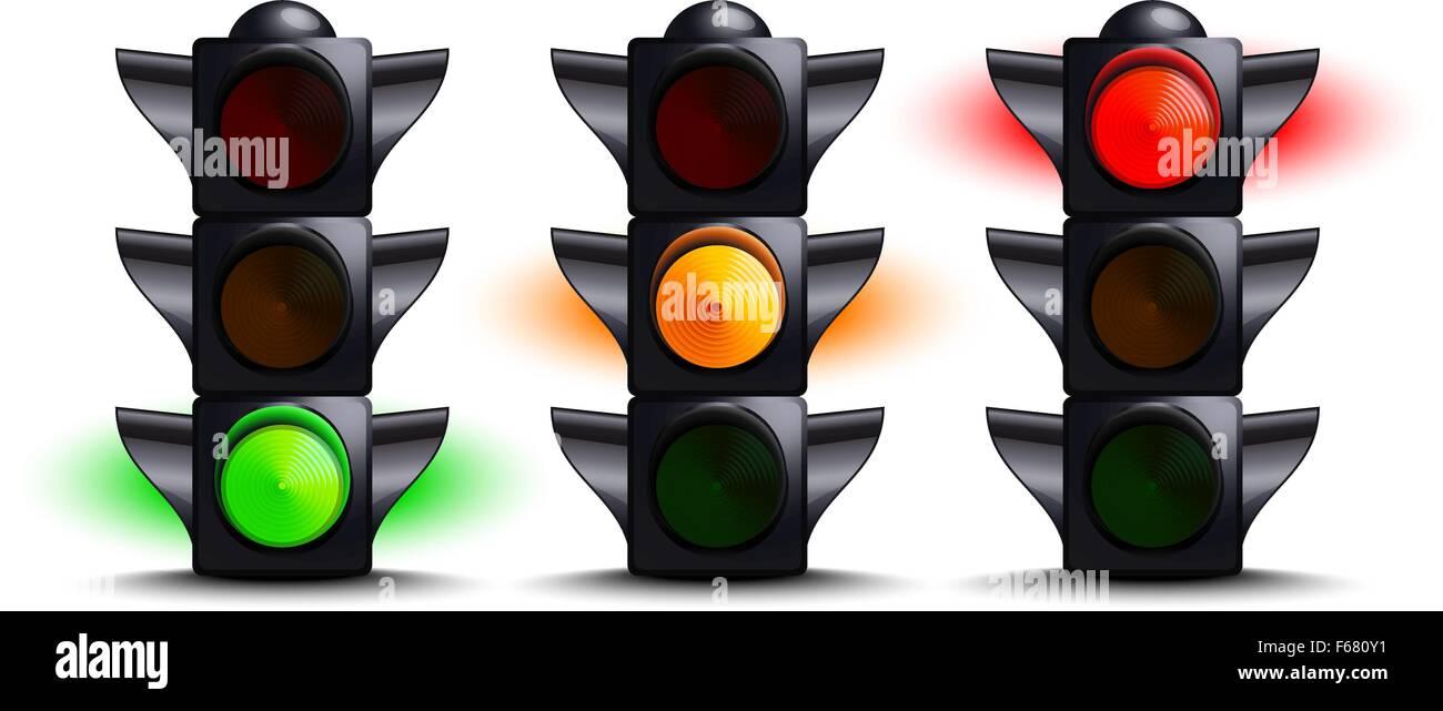 Ampel Auf Grün, Gelb, Rot Vektor Abbildung