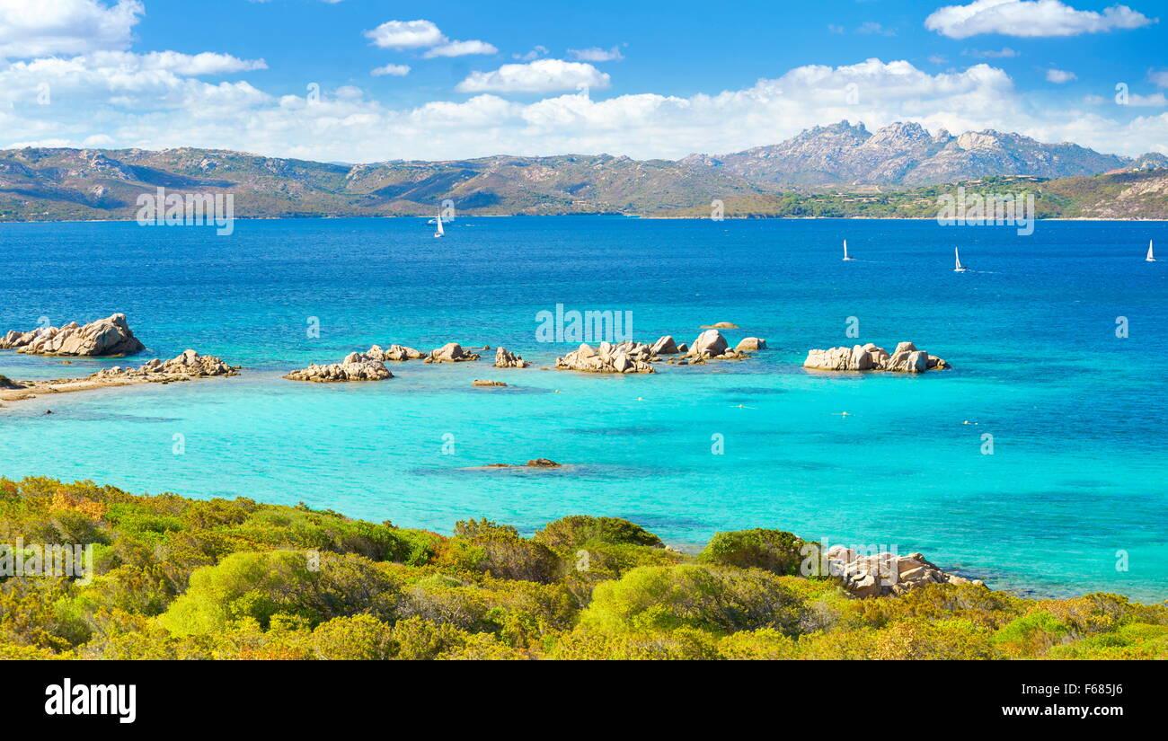 Caprera Insel, Nationalpark von La Maddalena Archipel, Sardinien, Italien Stockbild