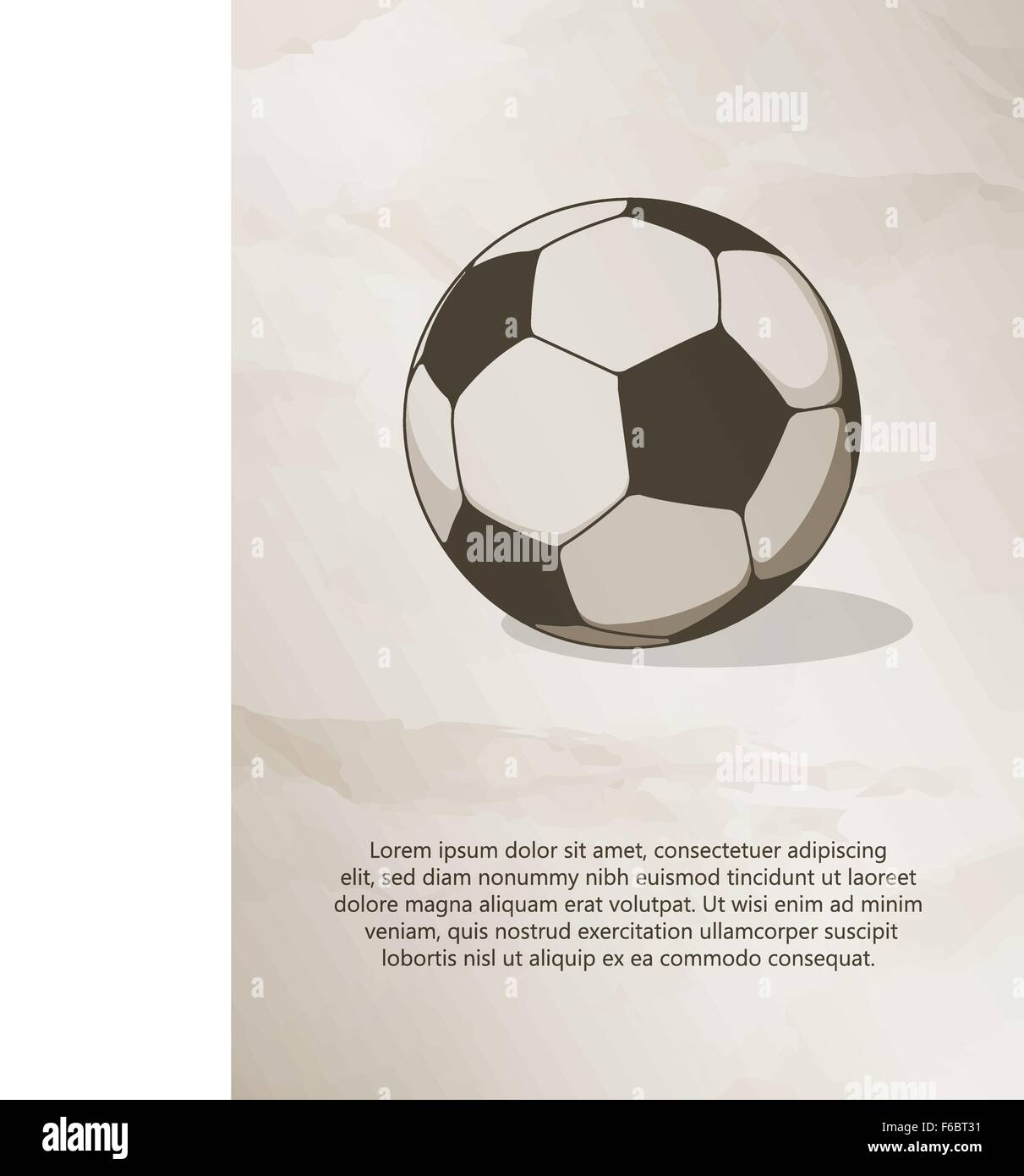 Fußball, Fußball-Ball. Vintage Label, Logo, Rahmen, Broschüren ...