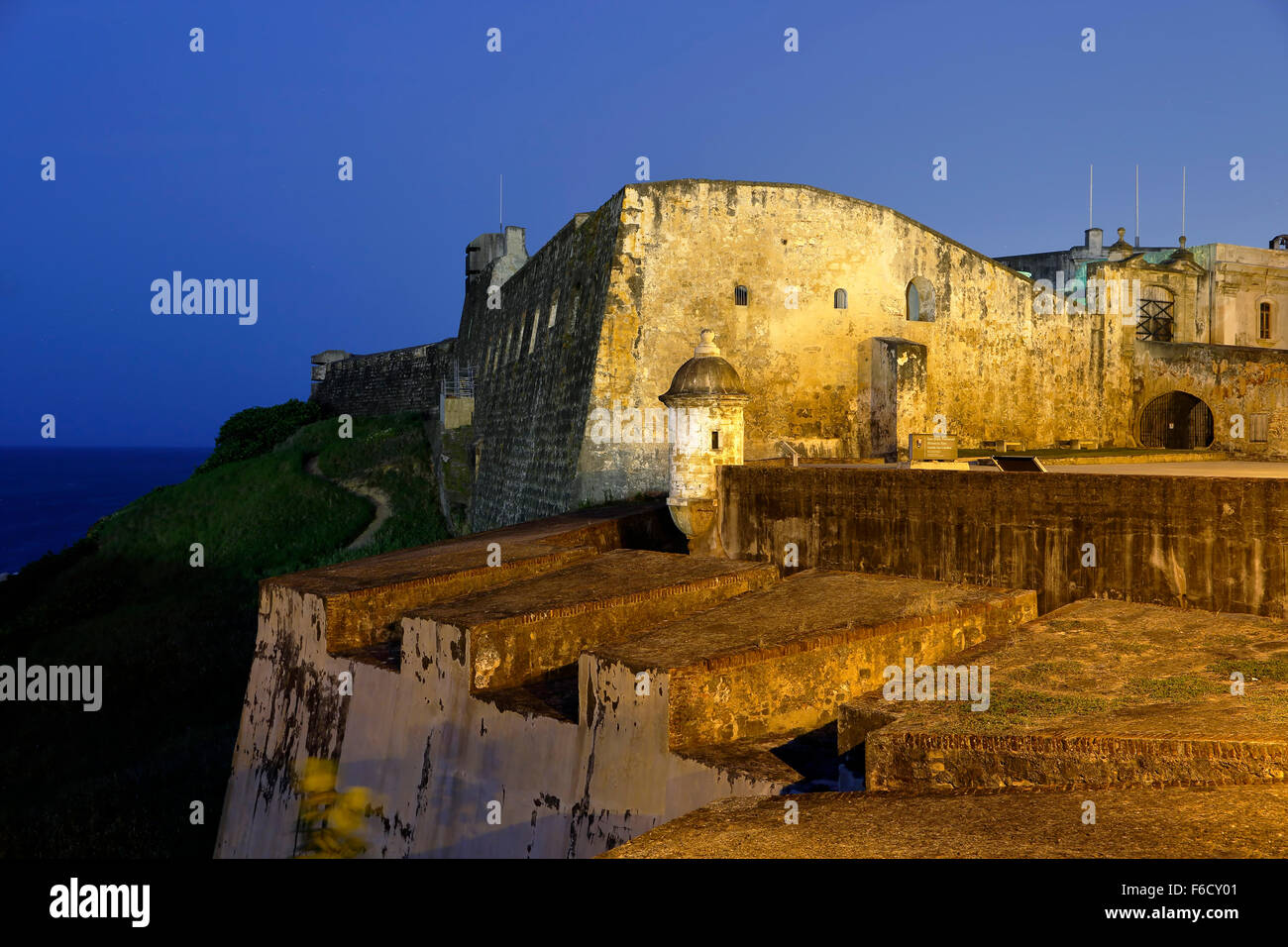 Die Burg San Cristóbal, San Juan National Historic Site, Old San Juan, Puerto Rico Stockbild