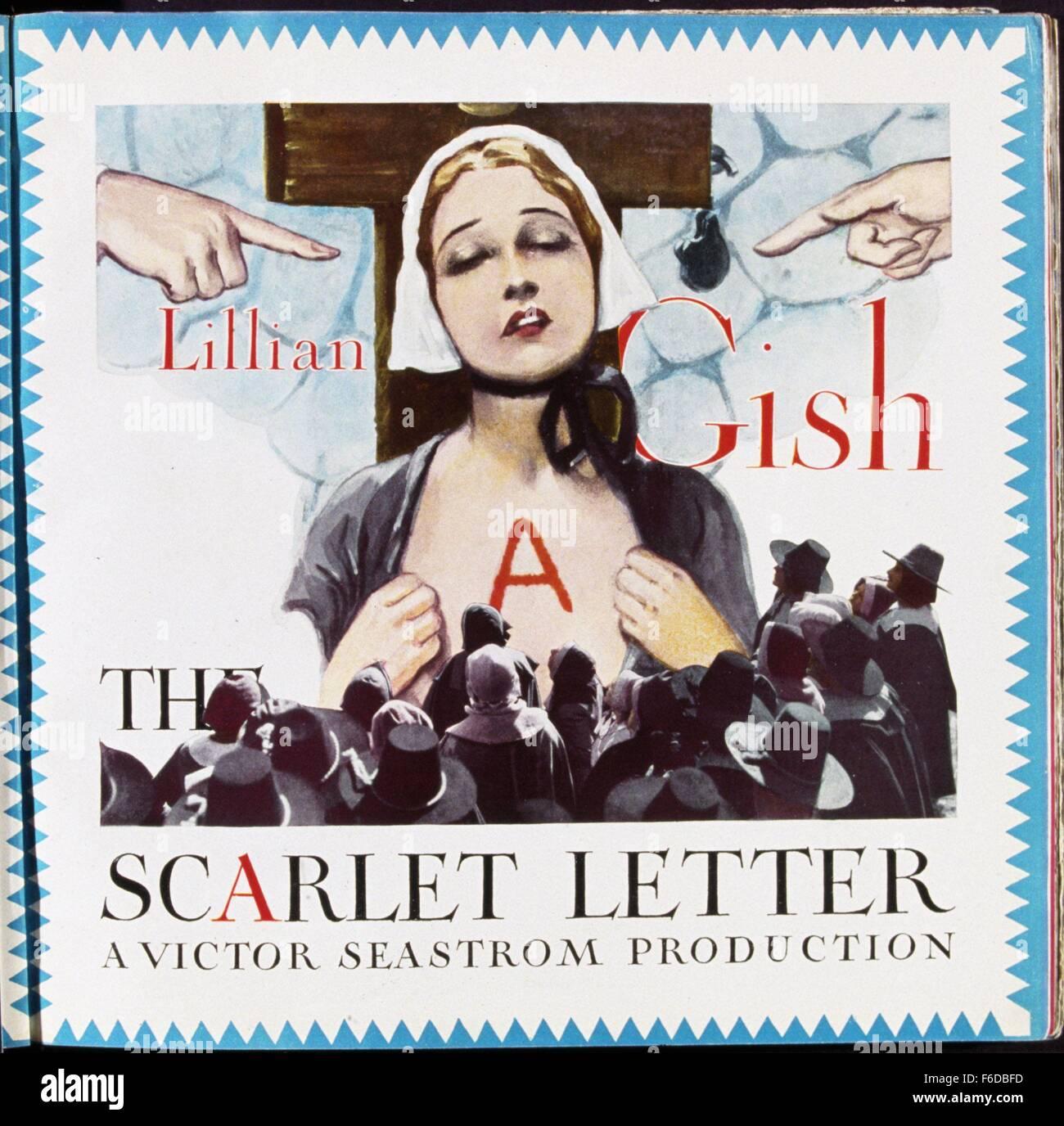 FILMTITEL Scarlet Letter STUDIO MGM PLOT In Puritanischen Boston Naherin Hester Prynne Wird Bestraft Fur Das Spielen Am Sabbat Aber Bitte Minister