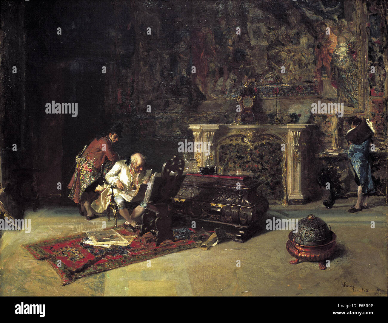 Marià Fortuny - Print Collector Stockbild