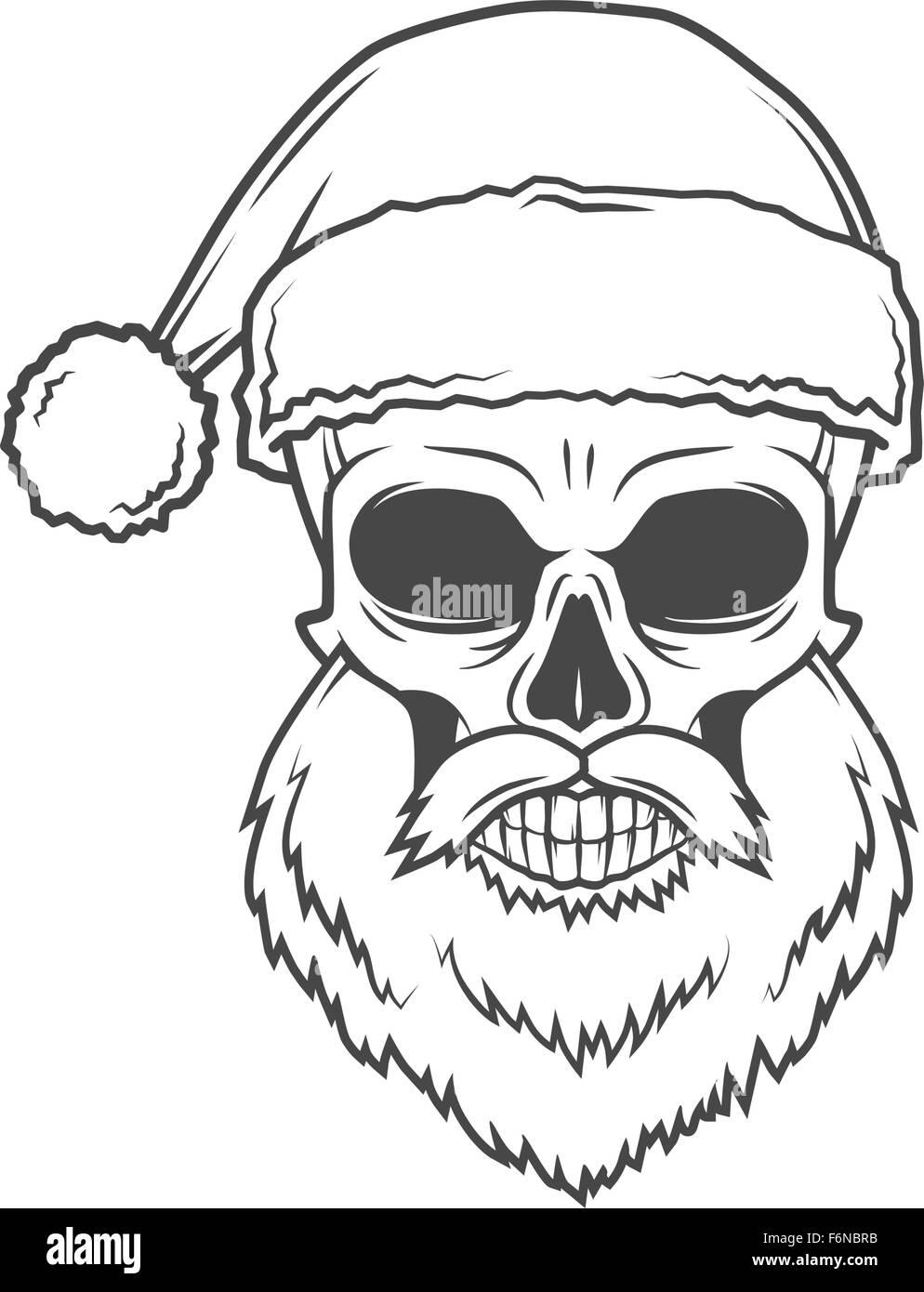 Bad Santa Claus Biker Plakat. Heavy-Metal-Weihnachten-Porträt. Rock ...