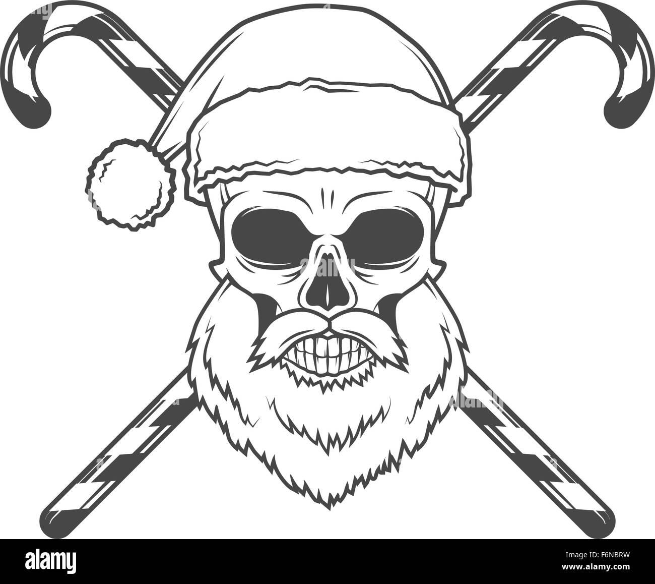 Bad Santa Claus Biker mit Bonbons Poster. Heavy-Metal-Weihnachten ...
