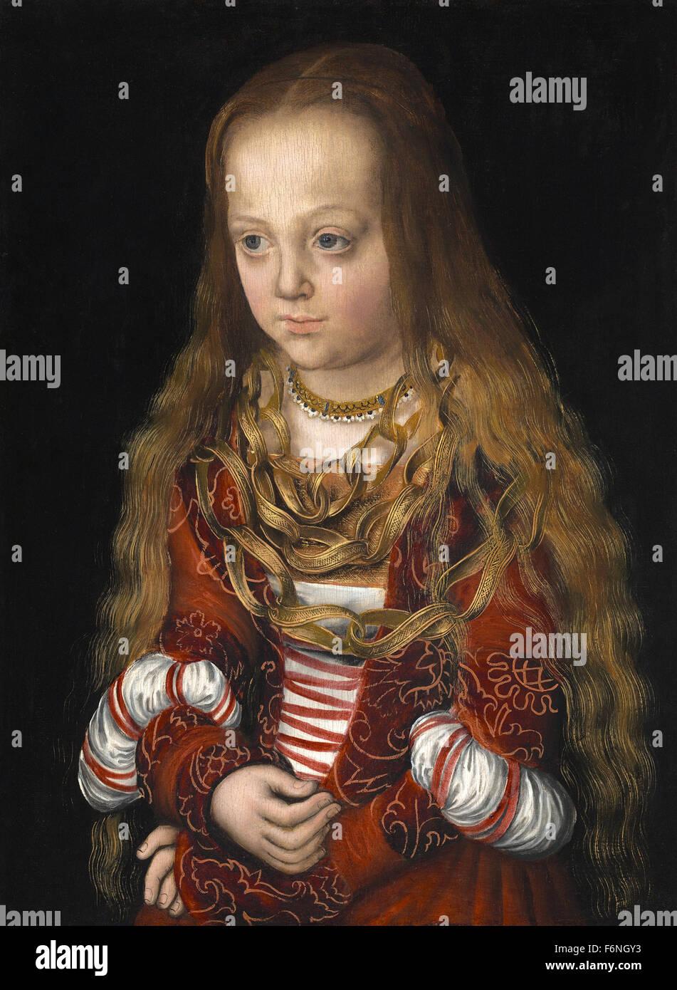 Lucas Cranach der ältere - eine Prinzessin von Sachsen Stockbild