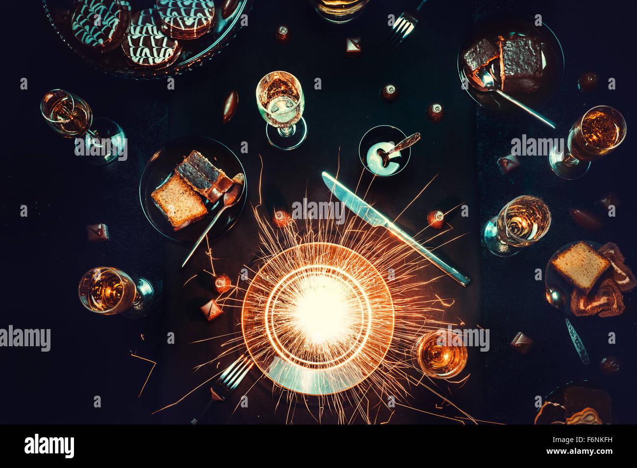 Supernova auf meinem Teller Stockbild