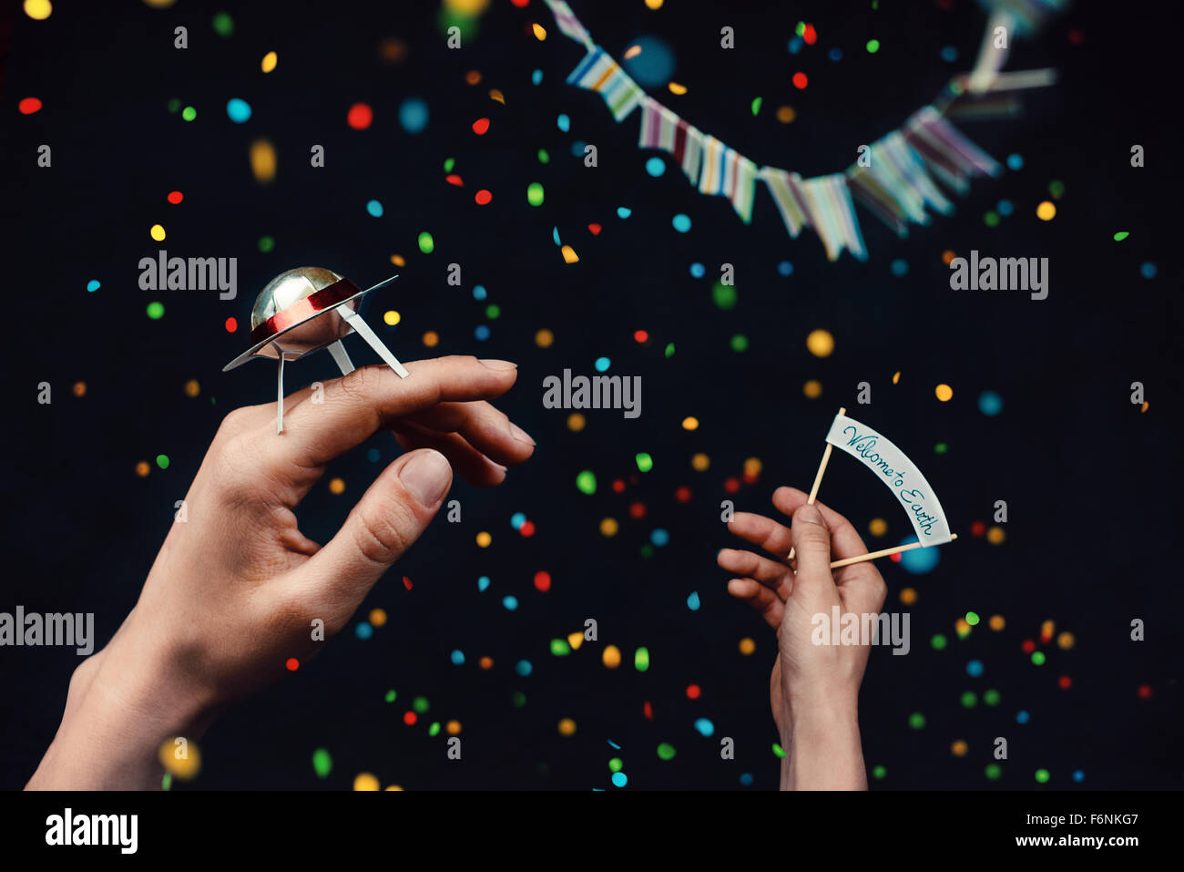 Willkommensparty Stockfoto